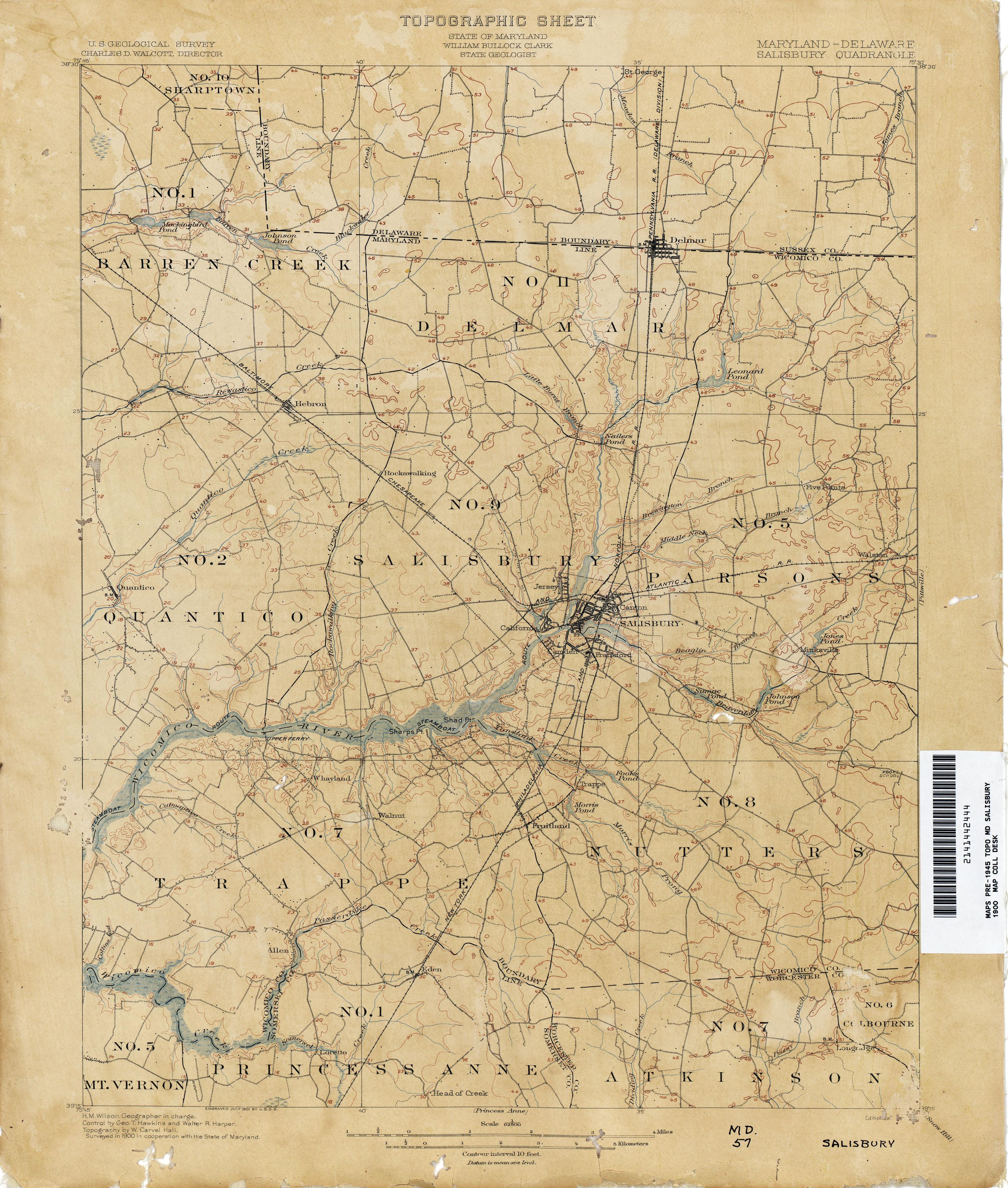 Delaware Historical Topographic Maps  PerryCastaeda Map