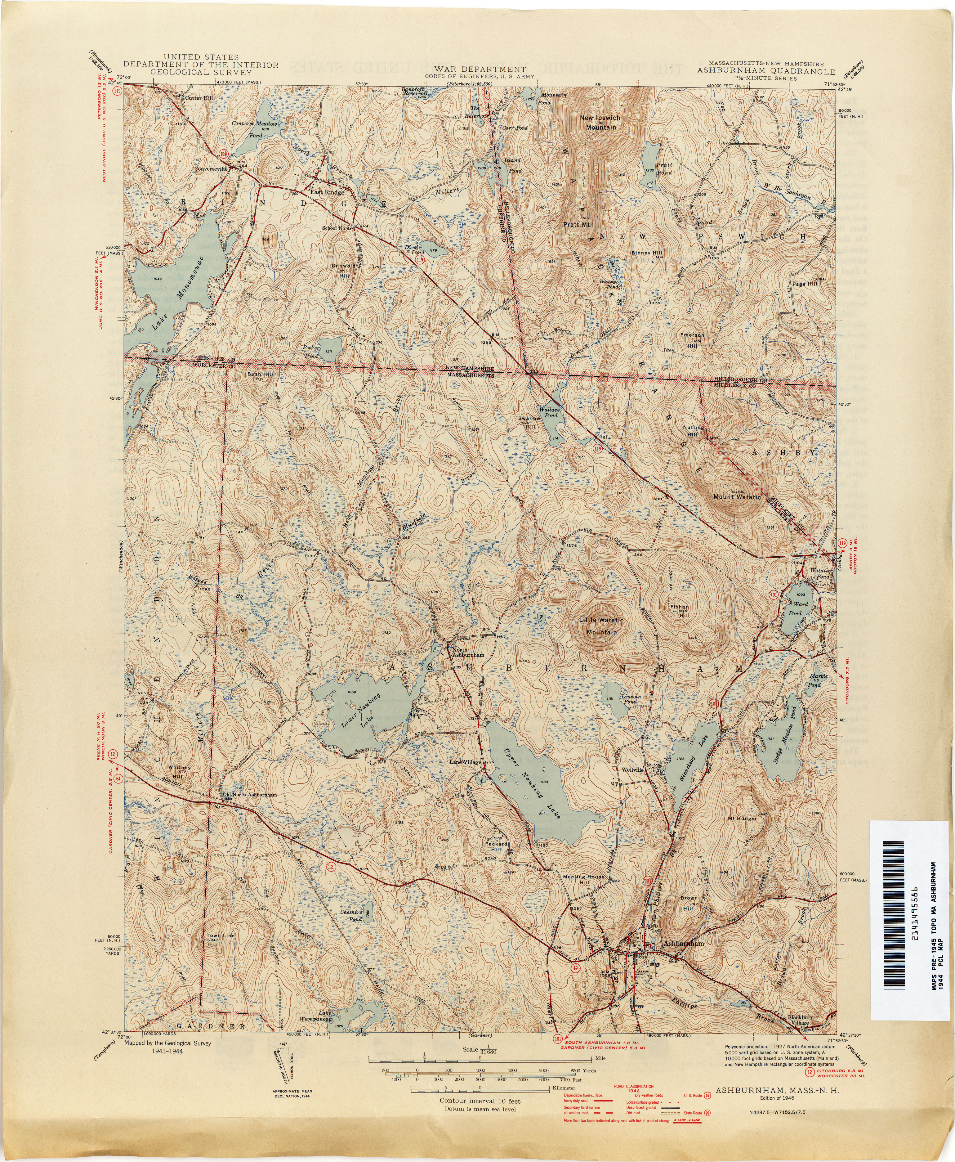 New Hampshire Topographic Maps PerryCastañeda Map Collection - New hampshire on us map