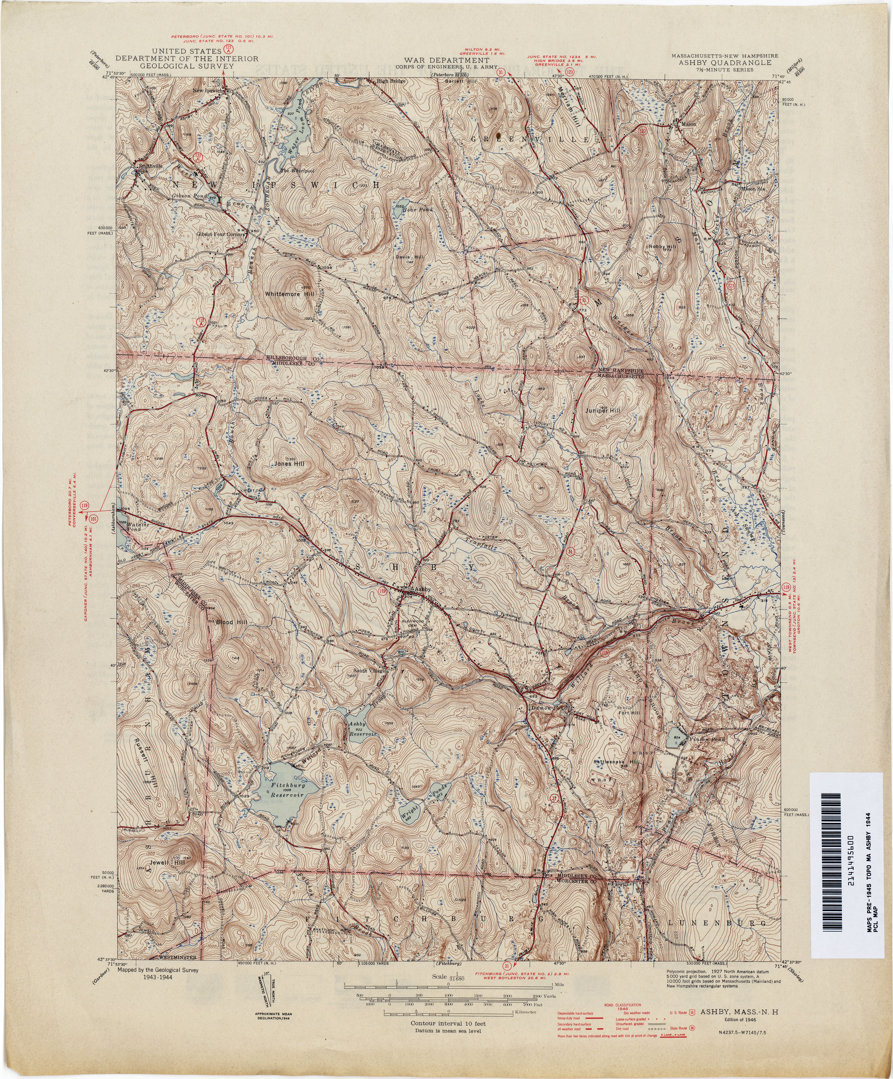 Massachusetts Historical Topographic Maps Perry