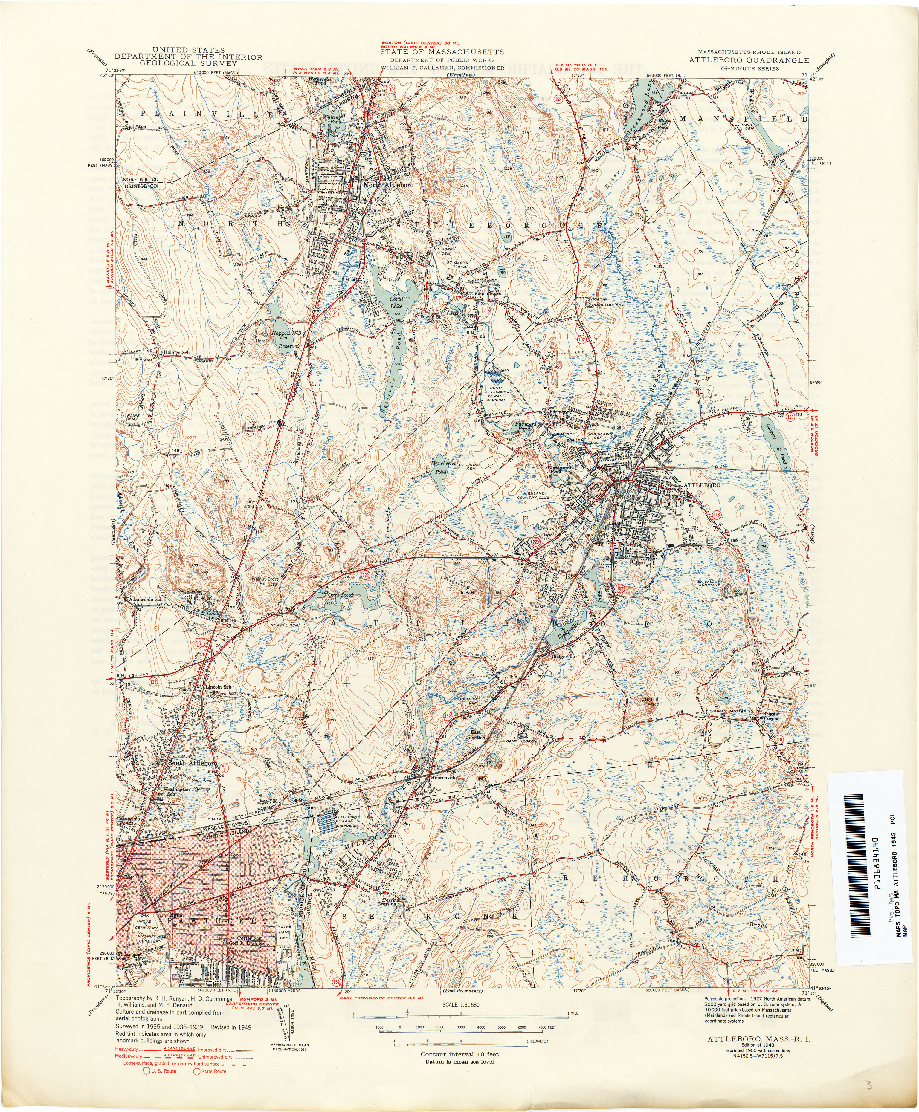 Massachusetts Historical Topographic Maps   Perry Castañeda Map