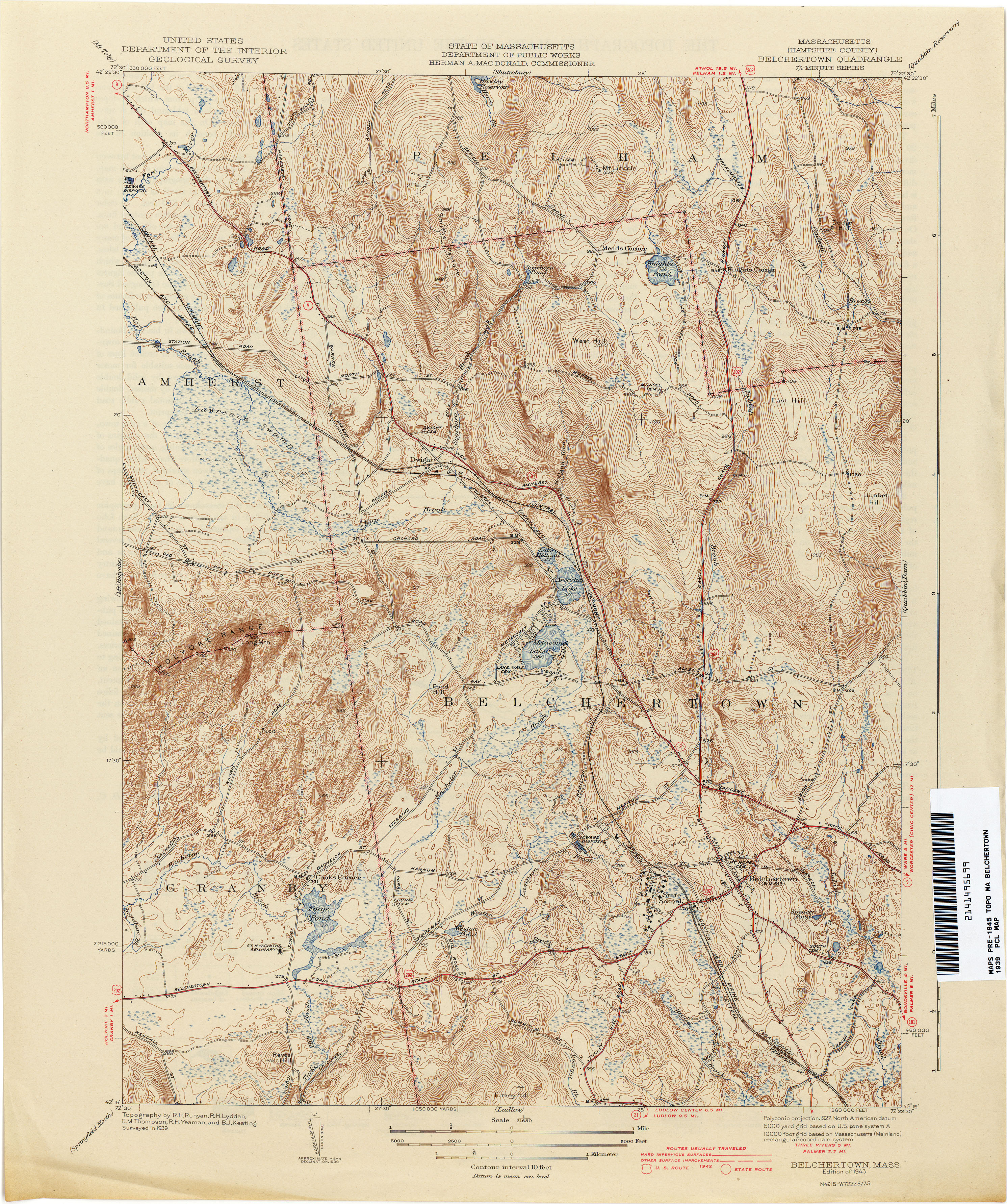 Machusetts Historical Topographic Maps - Perry-Castañeda Map ... on