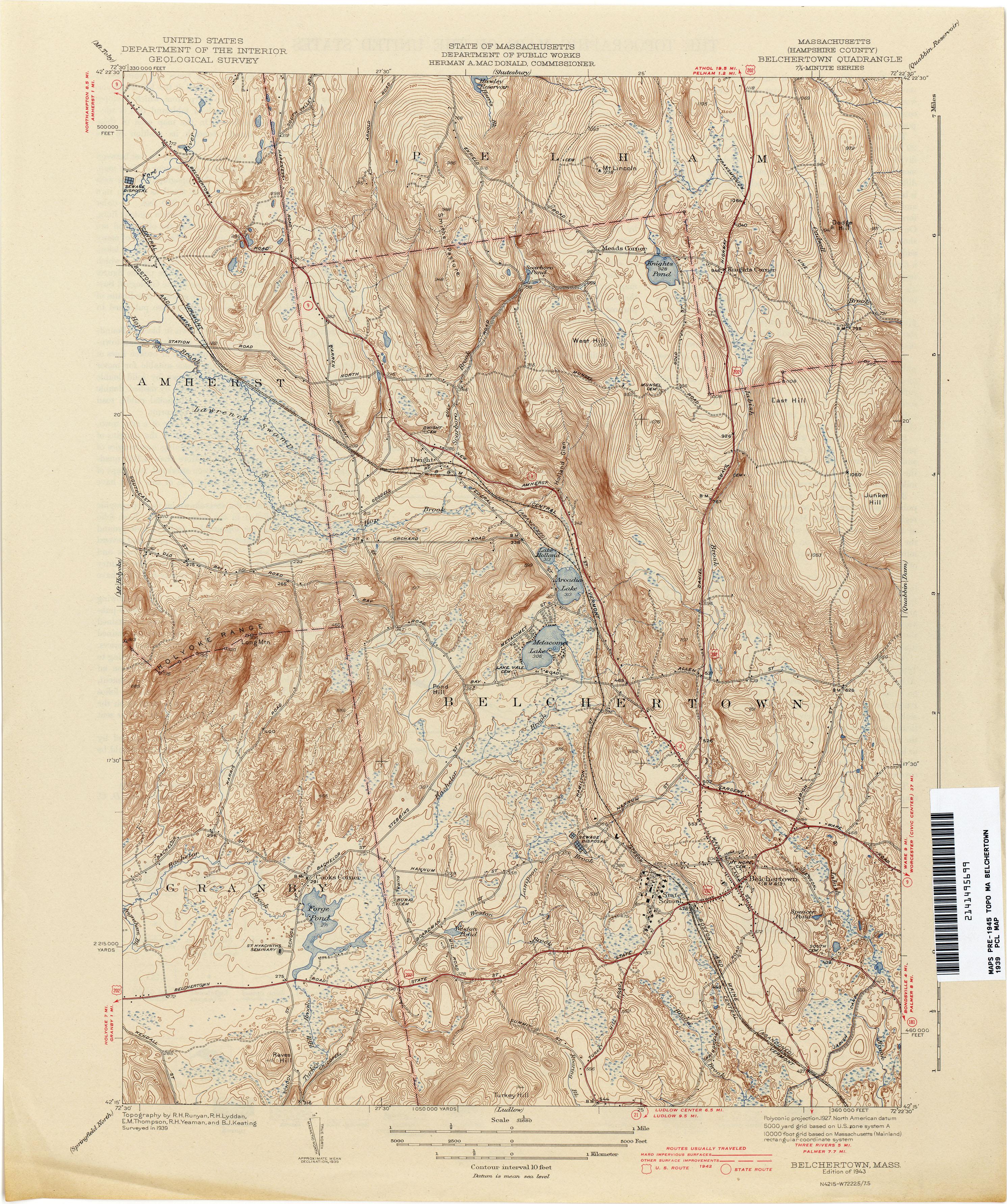 Massachusetts Historical Topographic Maps  PerryCastaeda Map