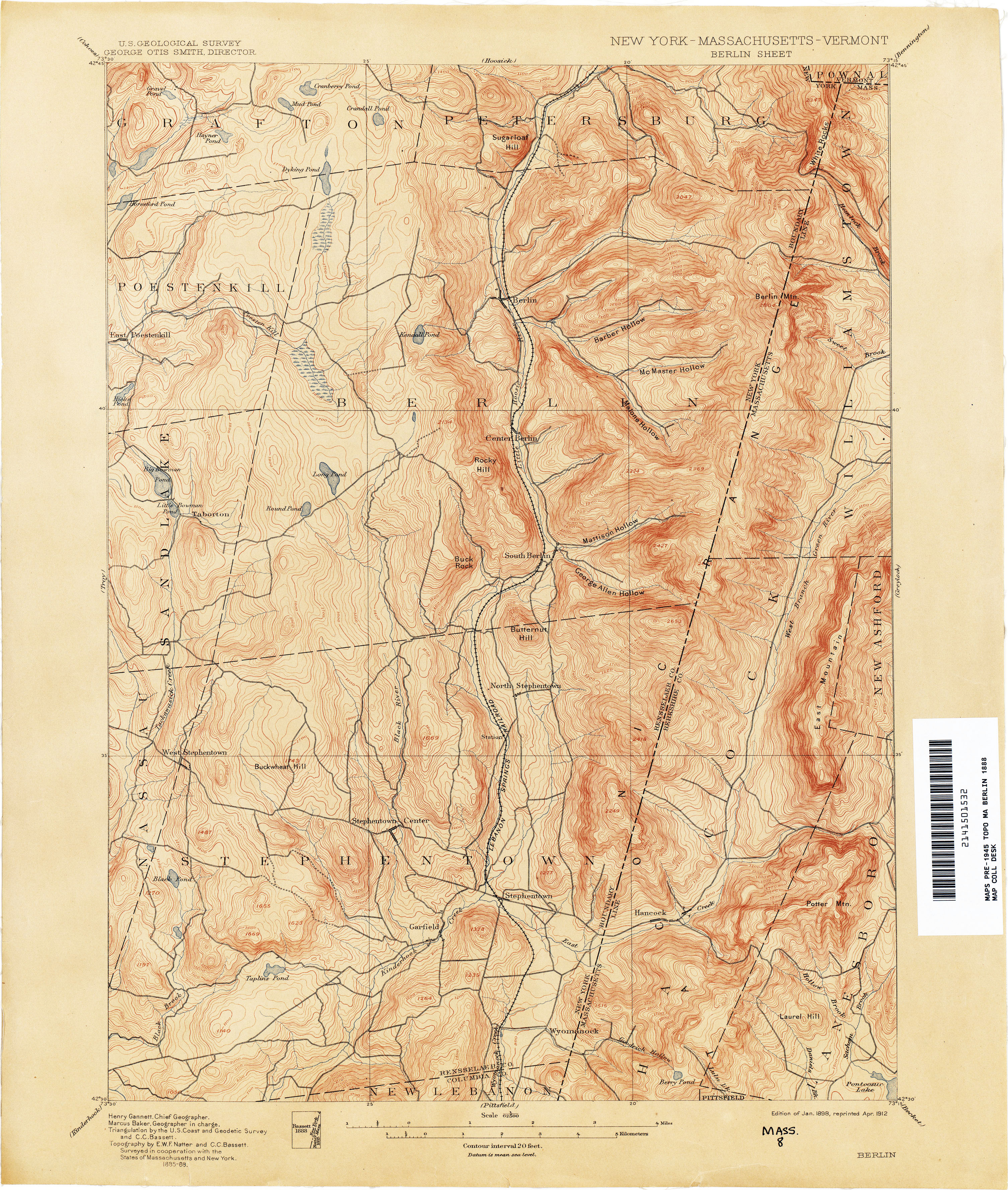 New York Topographic Maps PerryCastañeda Map Collection UT - New york vermont map