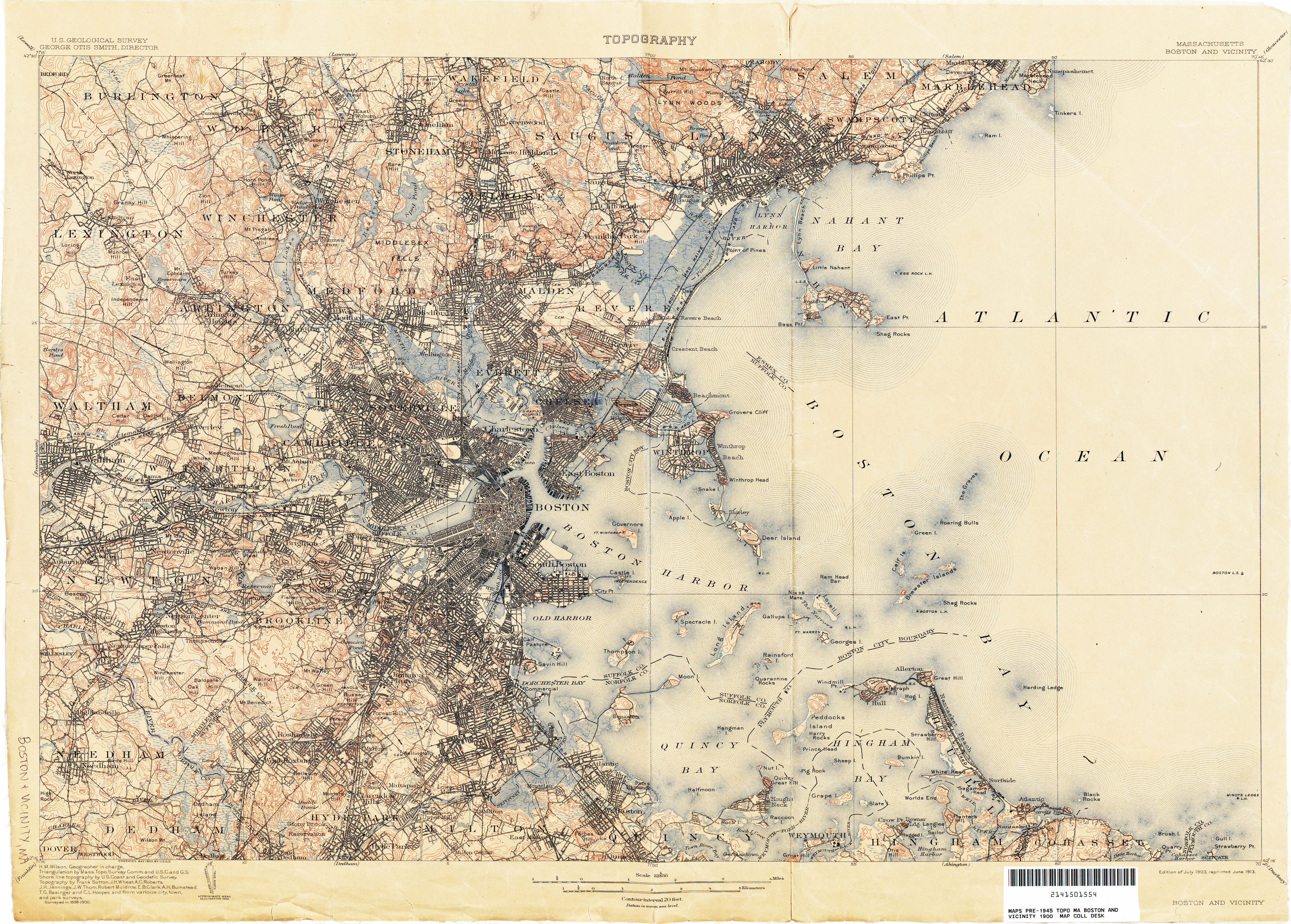 Massachusetts Historical Topographic Maps PerryCastañeda Map - Topo map of usa