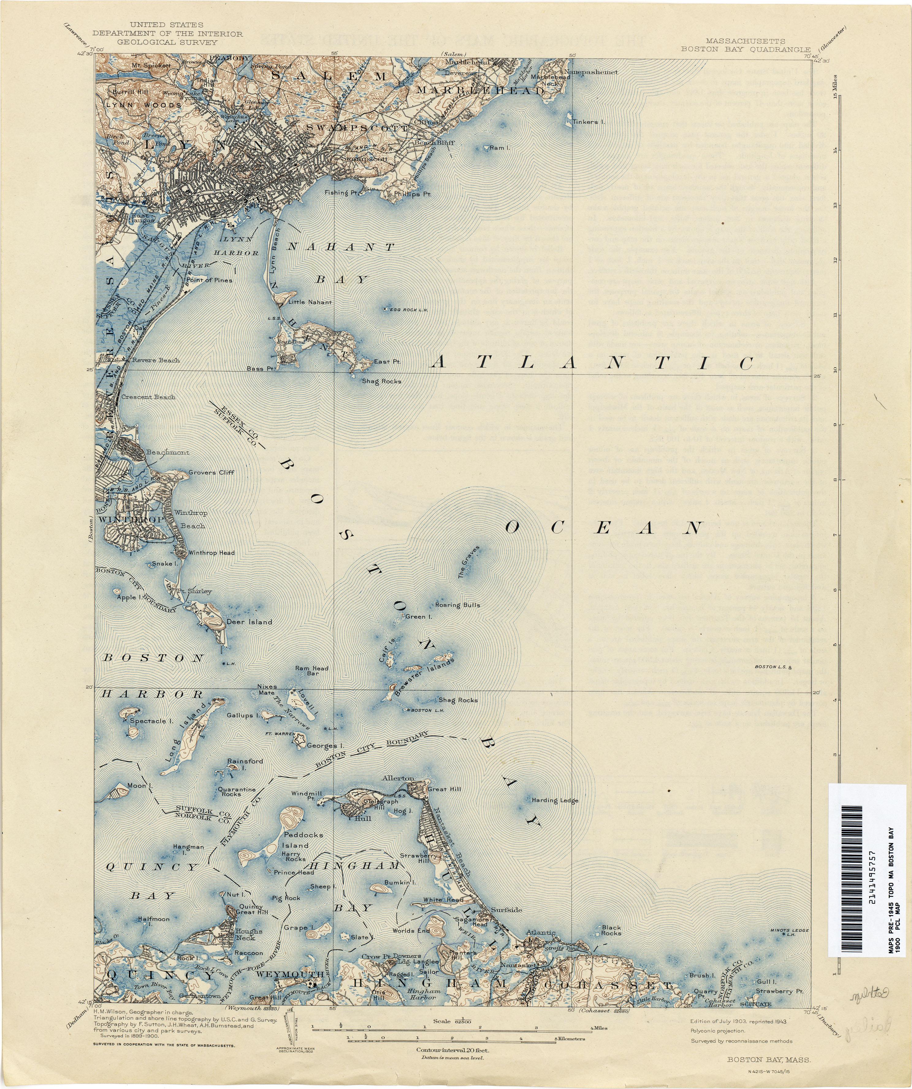 Massachusetts Historical Topographic Maps Perry Castaneda Map