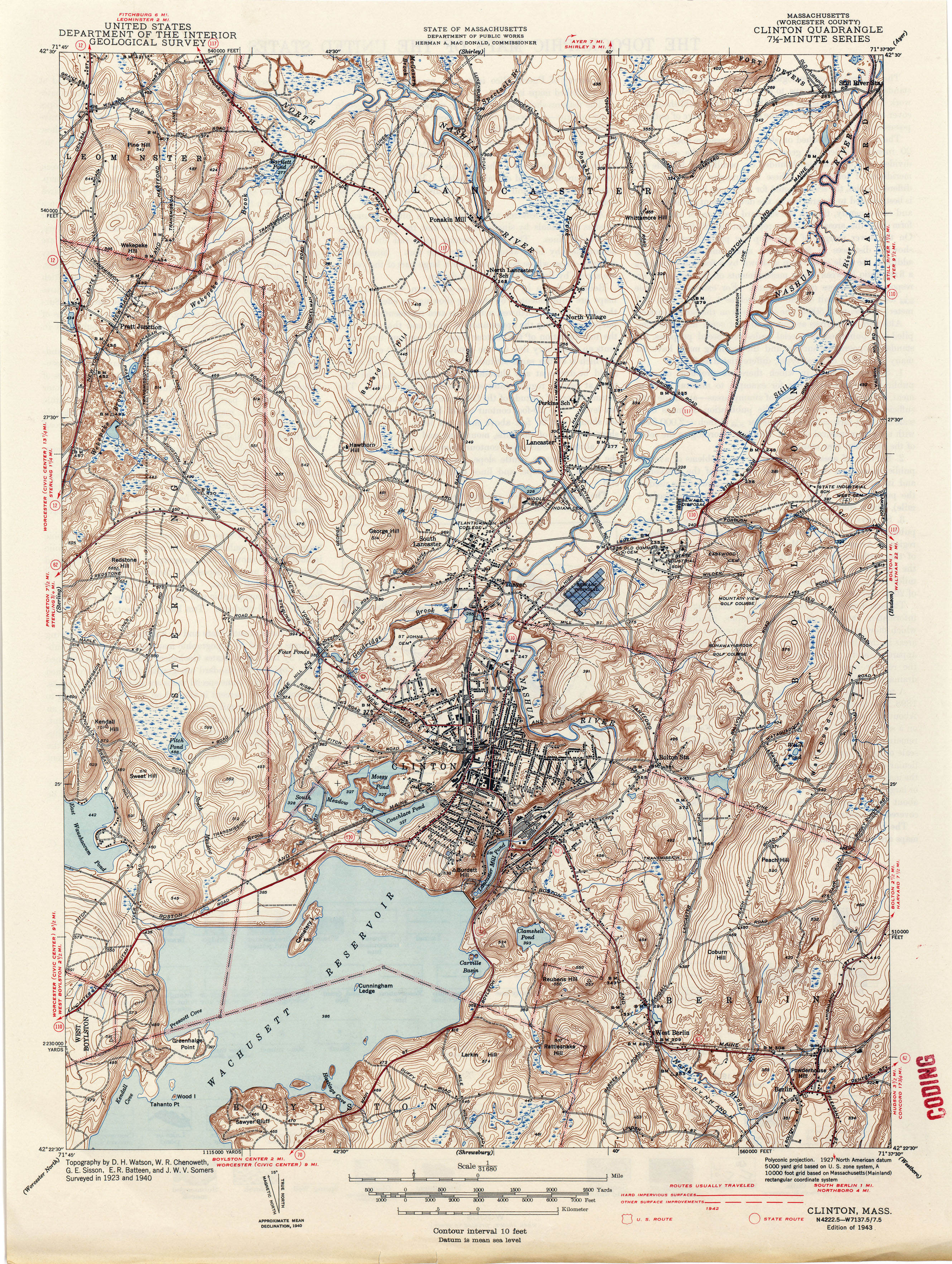 Massachusetts Historical Topographic Maps PerryCastañeda Map - Map from 1940 us