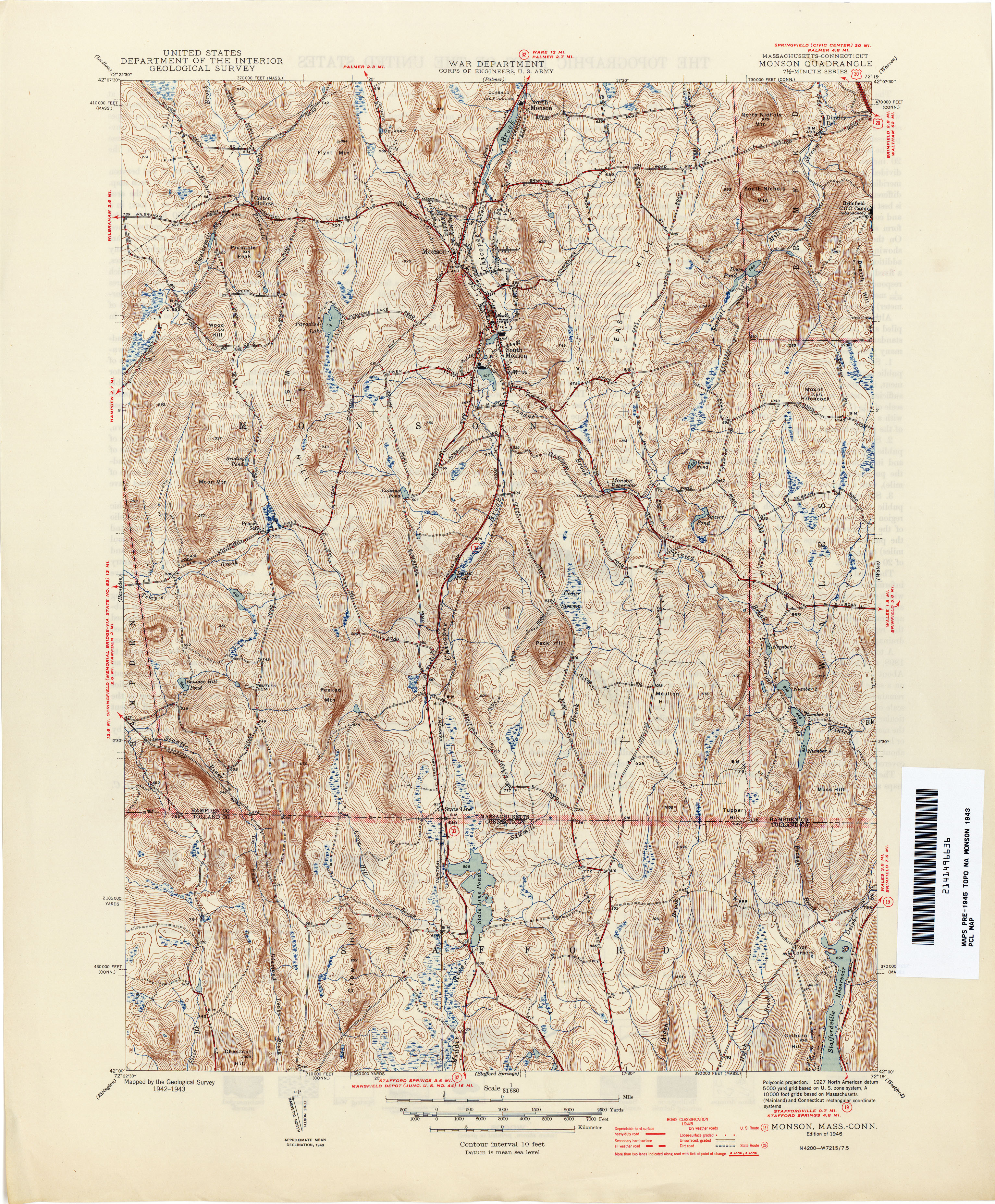 Connecticut Historical Topographic Maps PerryCastañeda Map - Connecticut us map