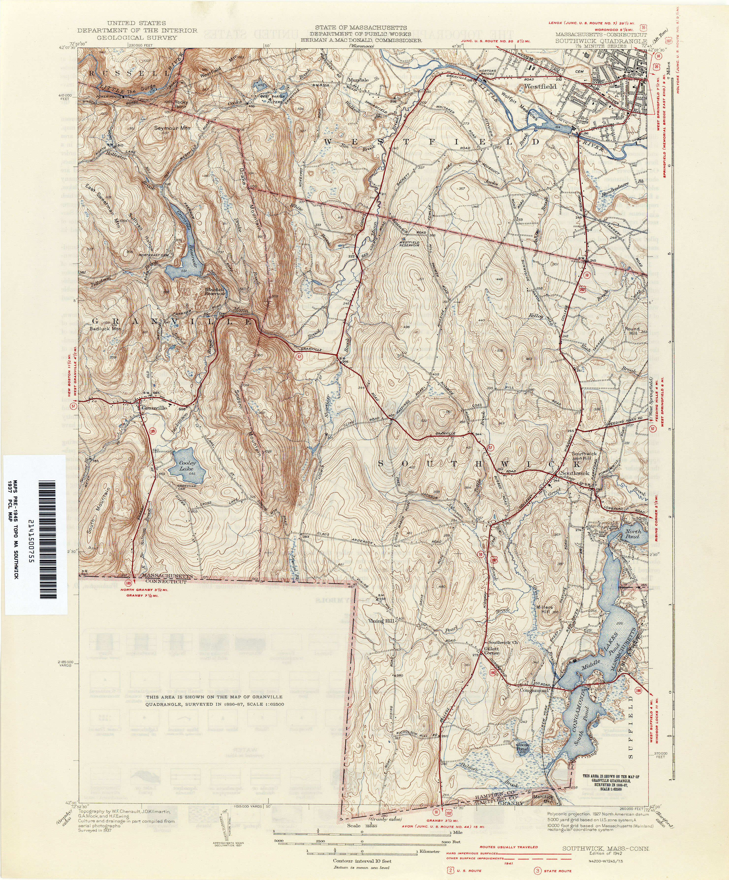 Connecticut Historical Topographic Maps PerryCastañeda Map - Ware massachusetts us map