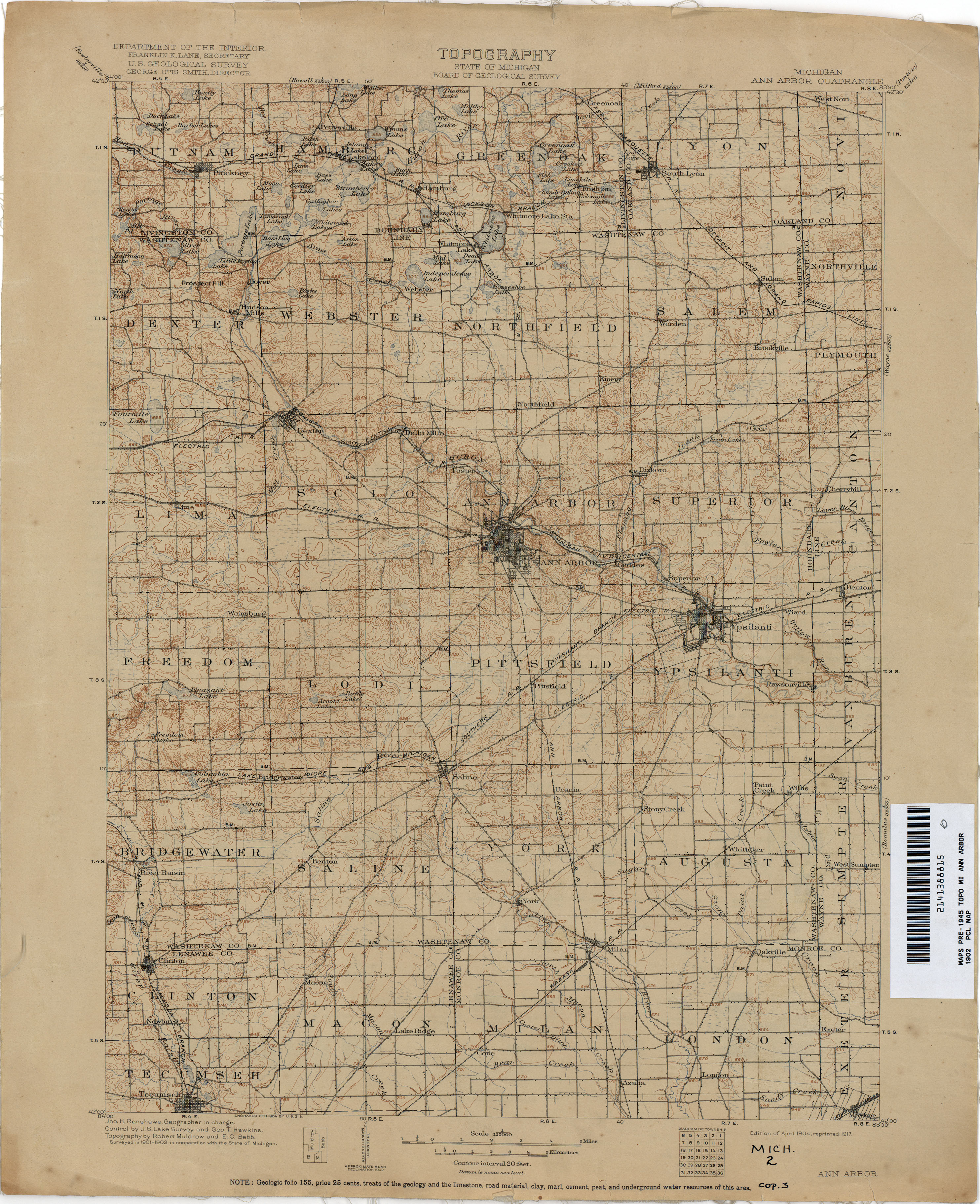 Historical Topographic Maps PerryCastañeda Map Collection UT - Ann arbor map