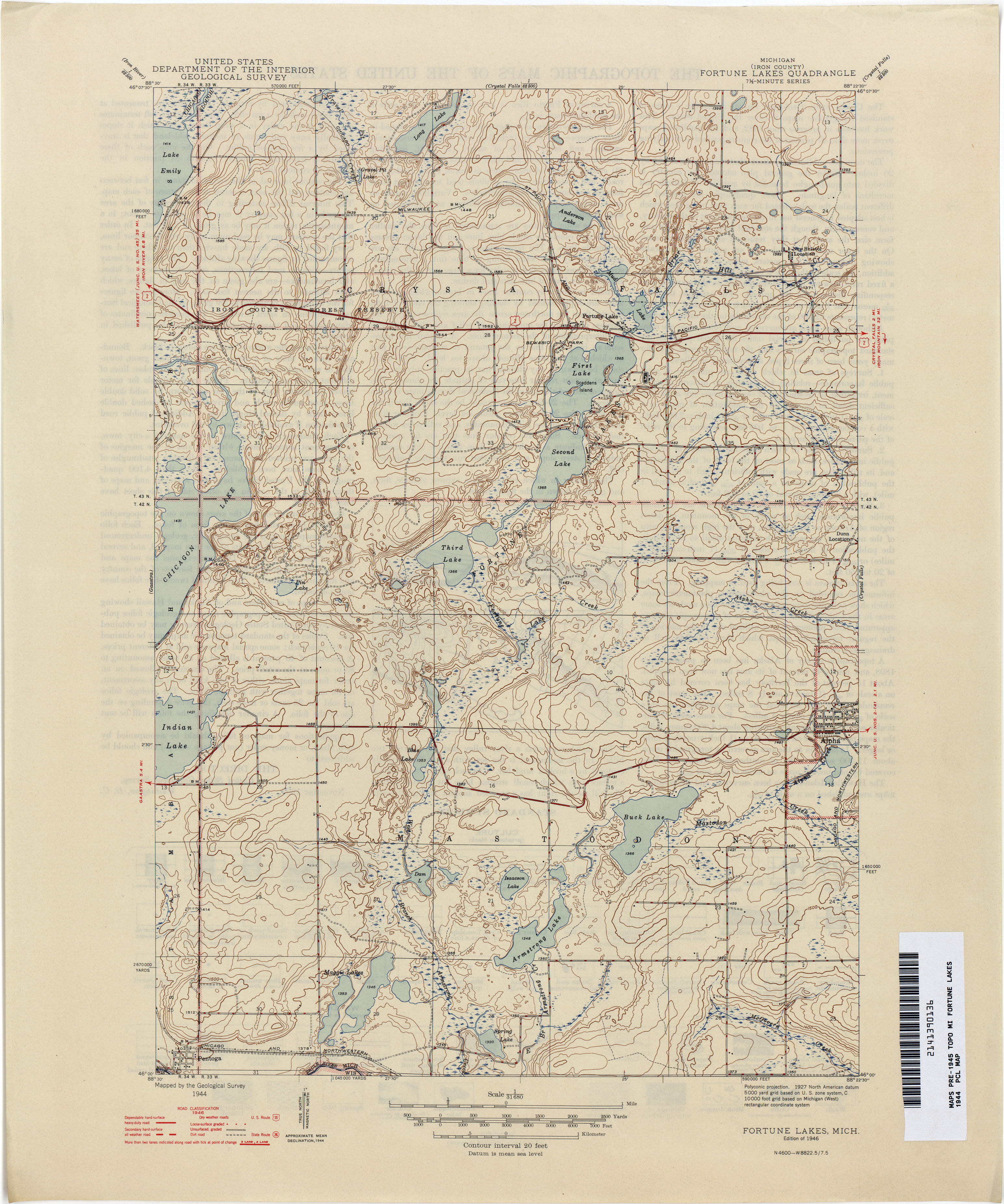 Historical Topographic Maps PerryCastañeda Map Collection UT - Michigan lake maps