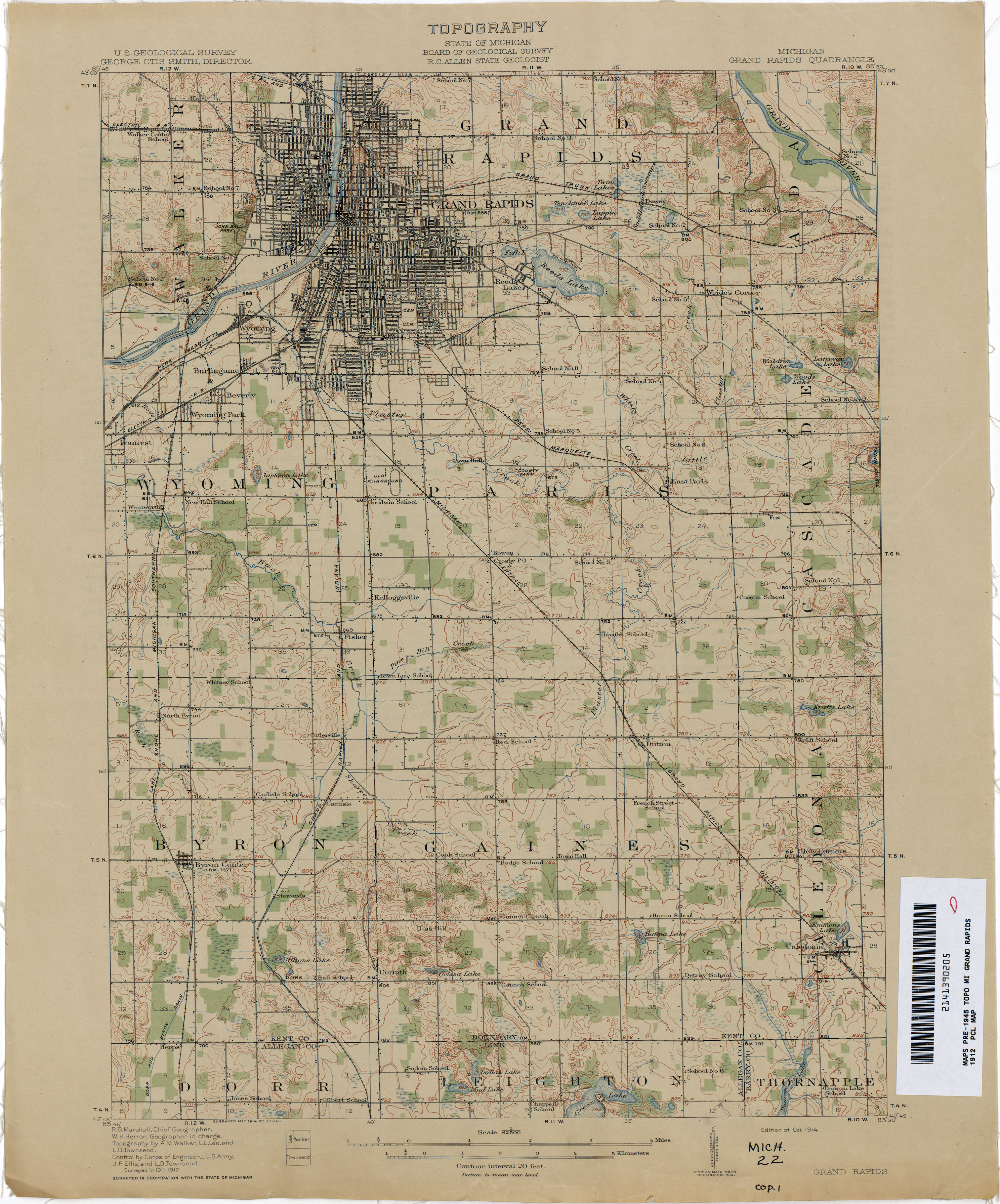 grand rapids . historical topographic maps  perrycastañeda map collection  ut