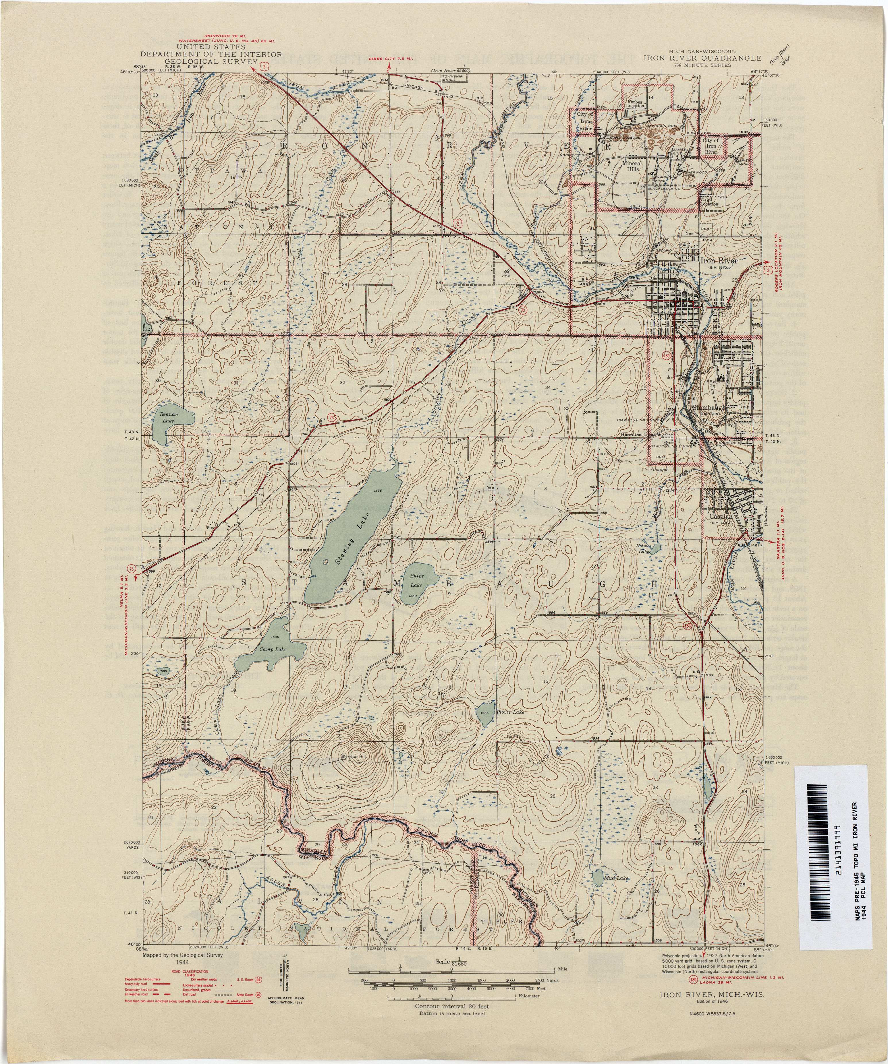 Historical Topographic Maps PerryCastañeda Map Collection UT - Mich map