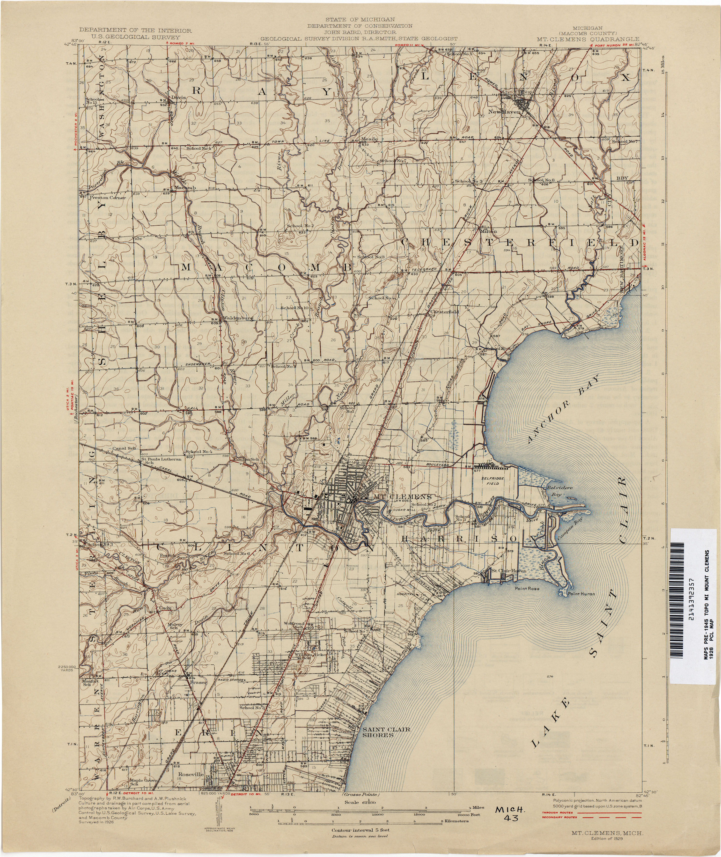 Historical Topographic Maps PerryCastañeda Map Collection UT - Map for michigan