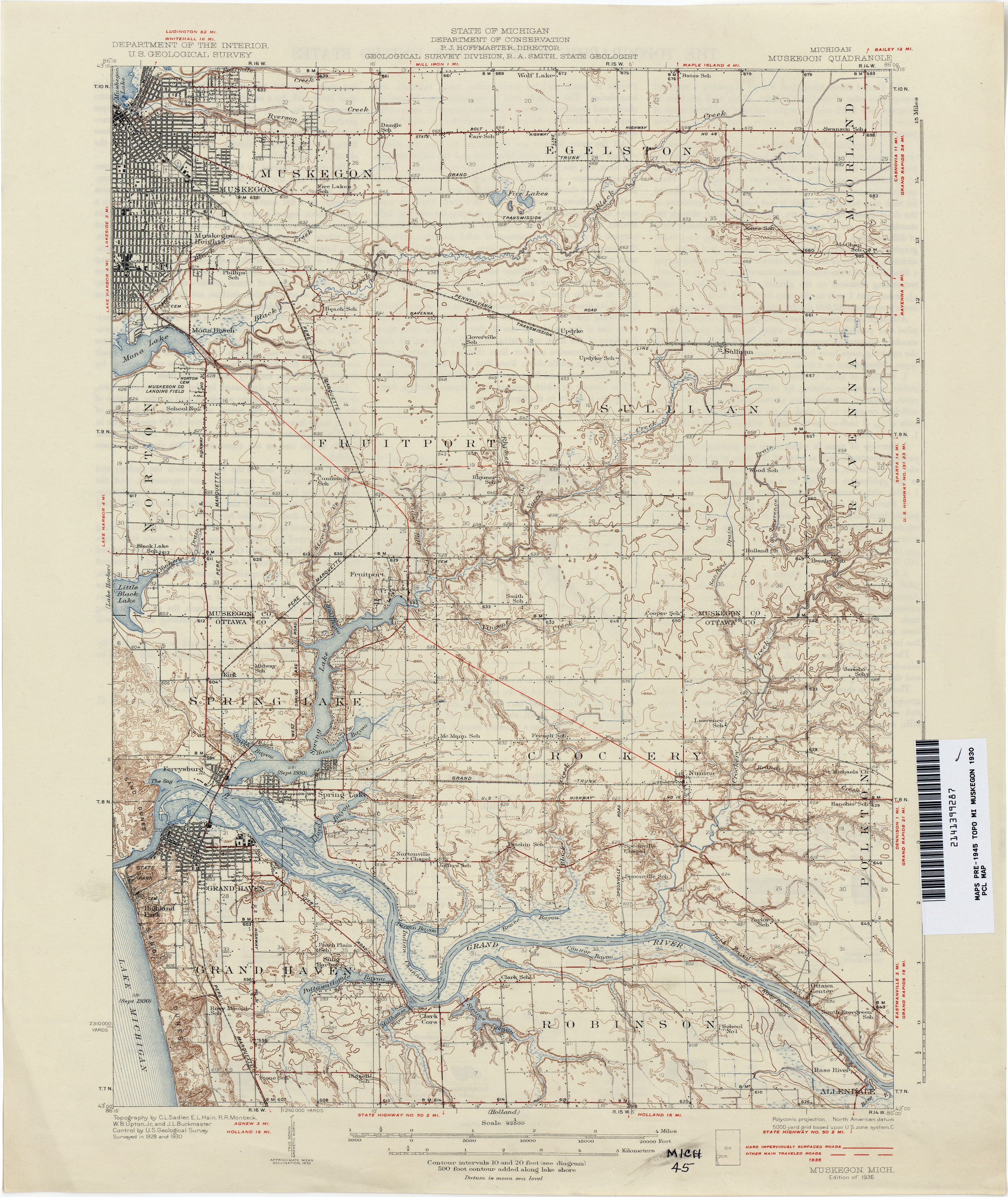 Historical Topographic Maps PerryCastañeda Map Collection UT - Us 23 michigan map