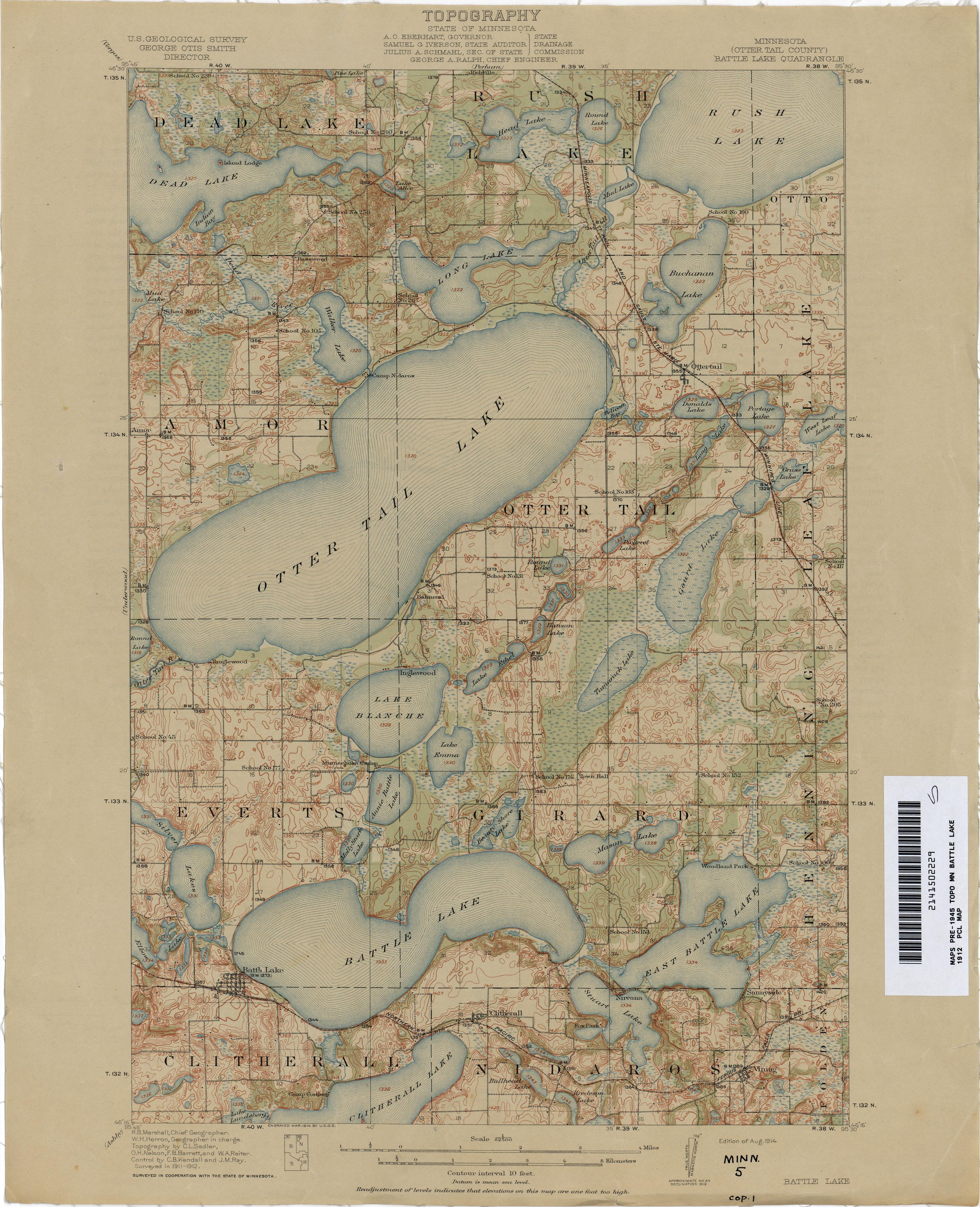 Minnesota Historical Topographic Maps PerryCastañeda Map - Minn map