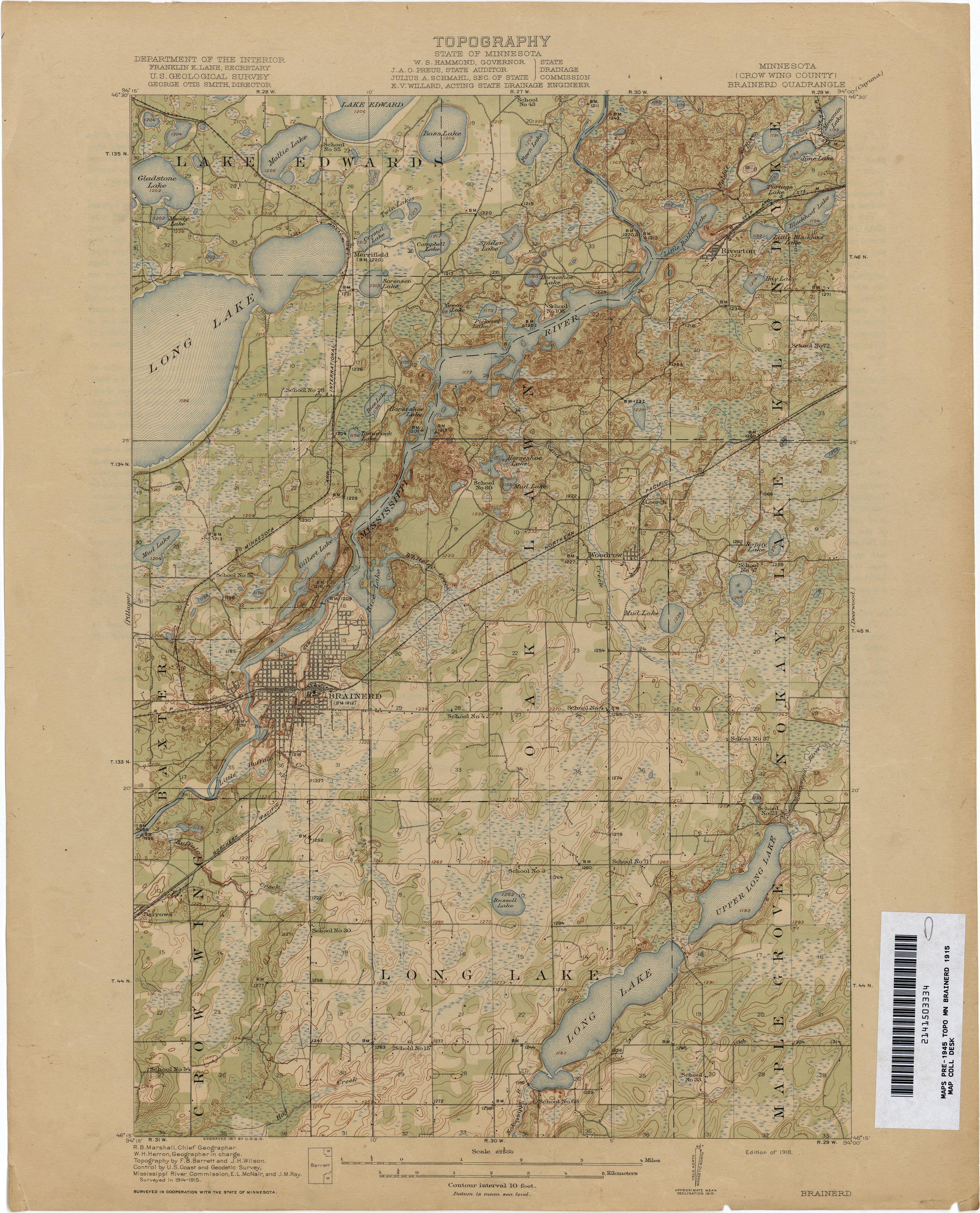 Minnesota Historical Topographic Maps - Perry-Castañeda Map ...