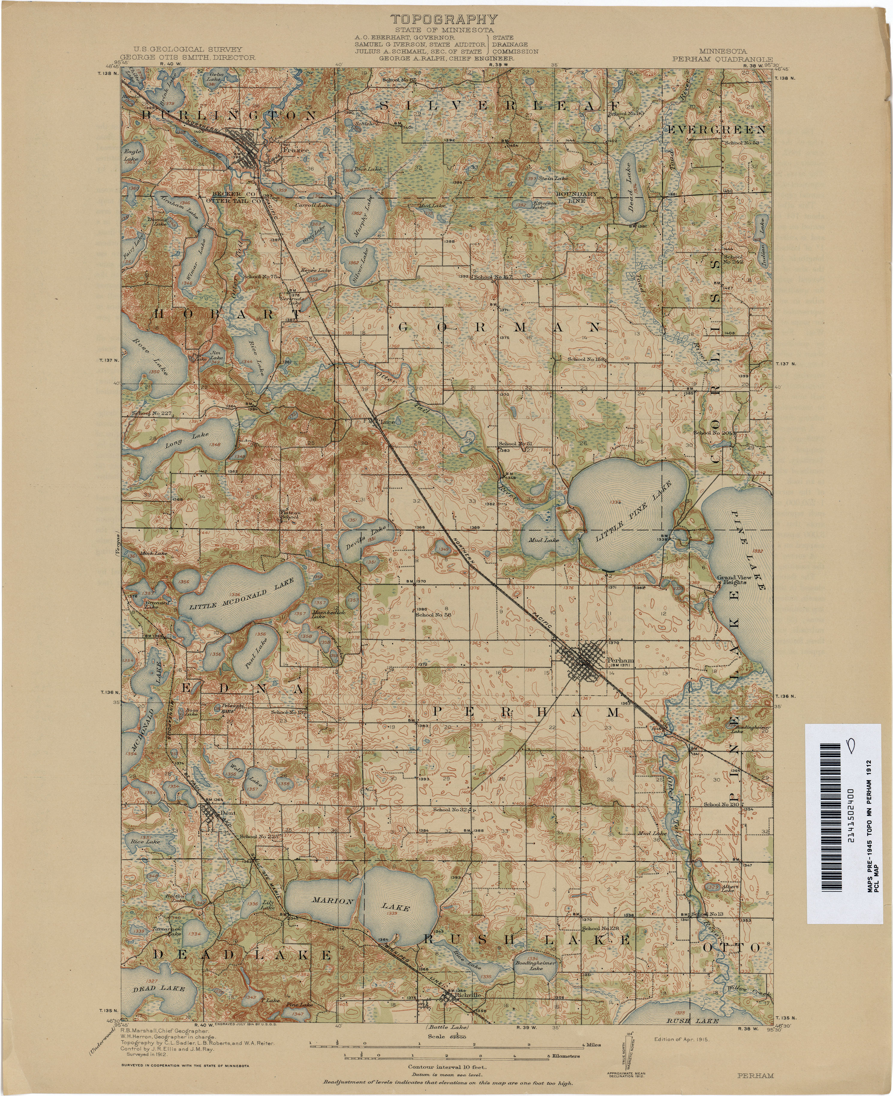 Minnesota historical topographic maps perry castaeda map map collection gumiabroncs Images