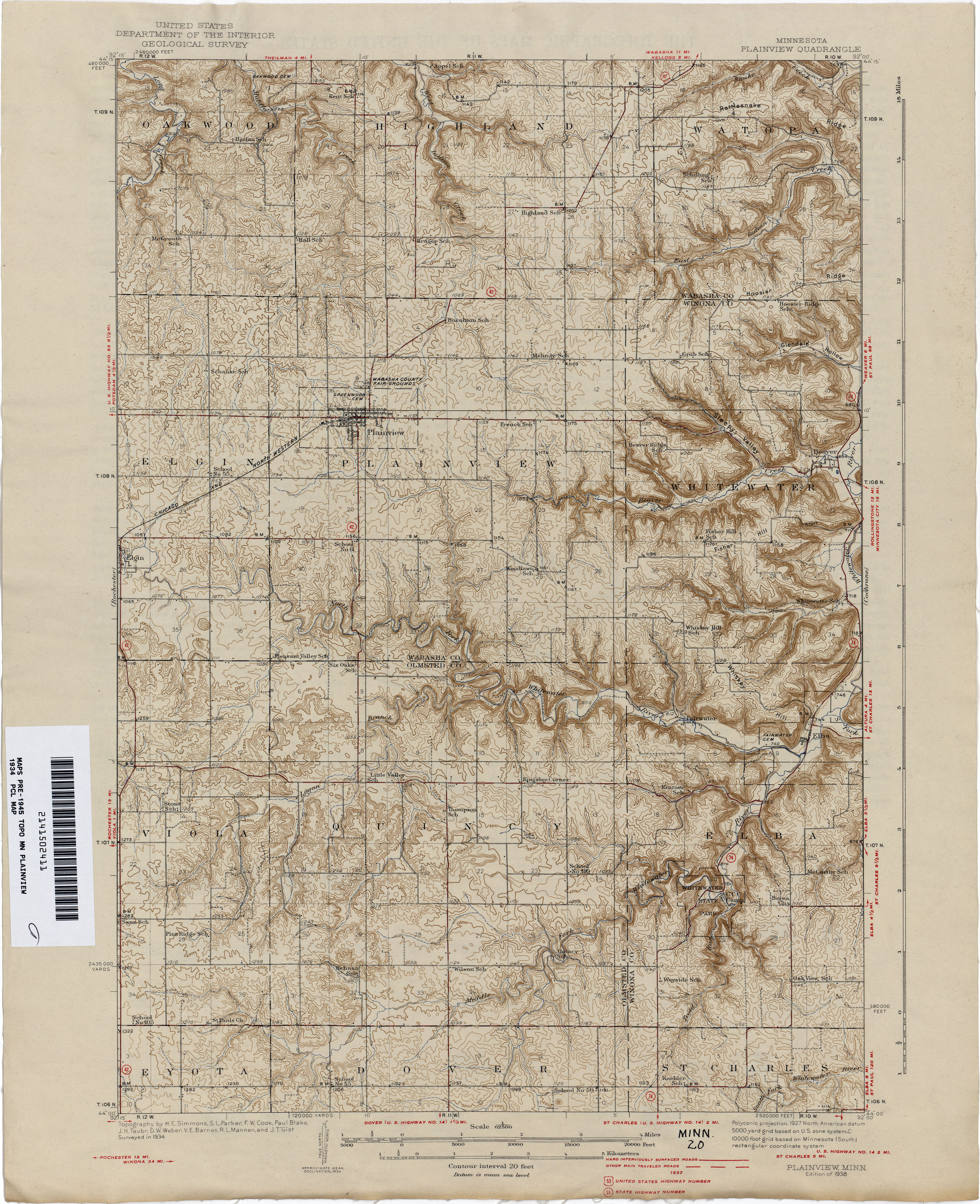 U Of Minnesota Map.Minnesota Historical Topographic Maps Perry Castaneda Map