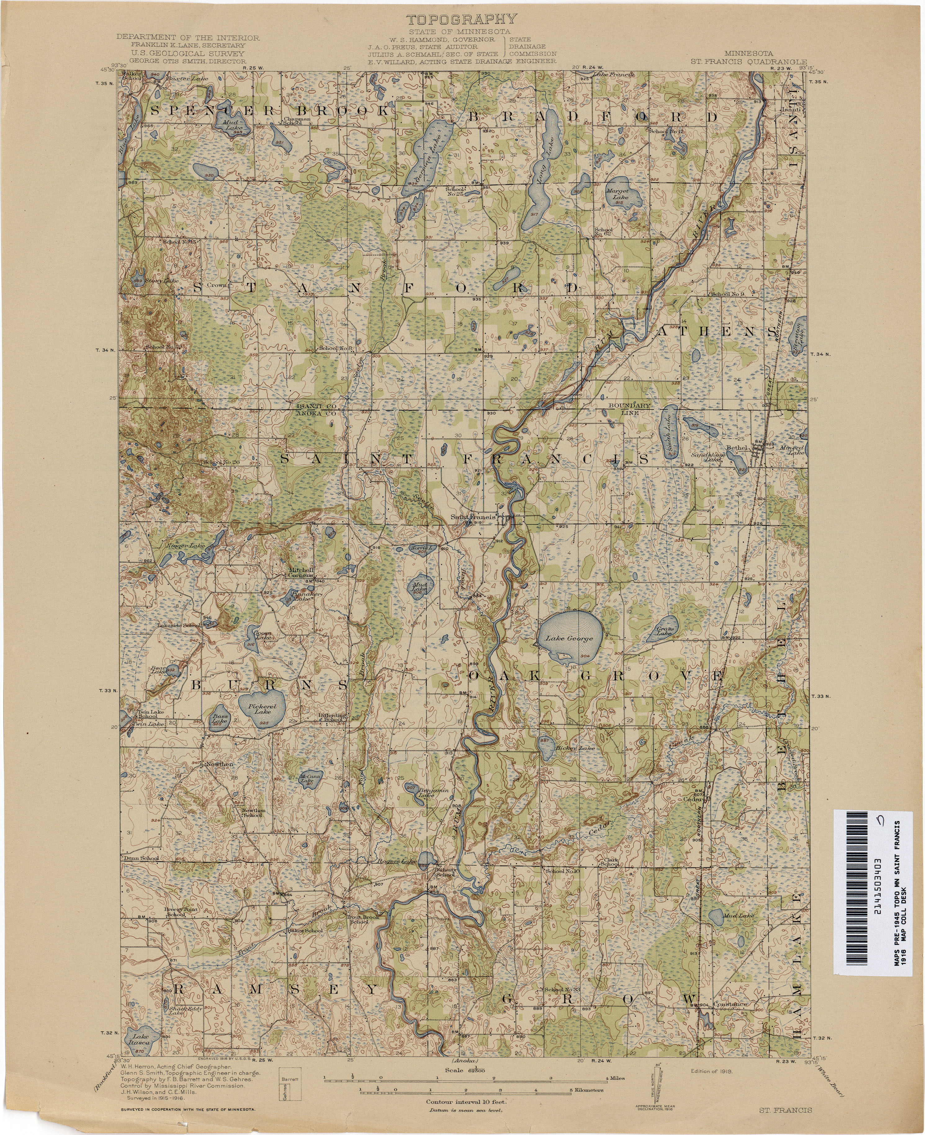 Minnesota Historical Topographic Maps PerryCastañeda Map - Mn on us map