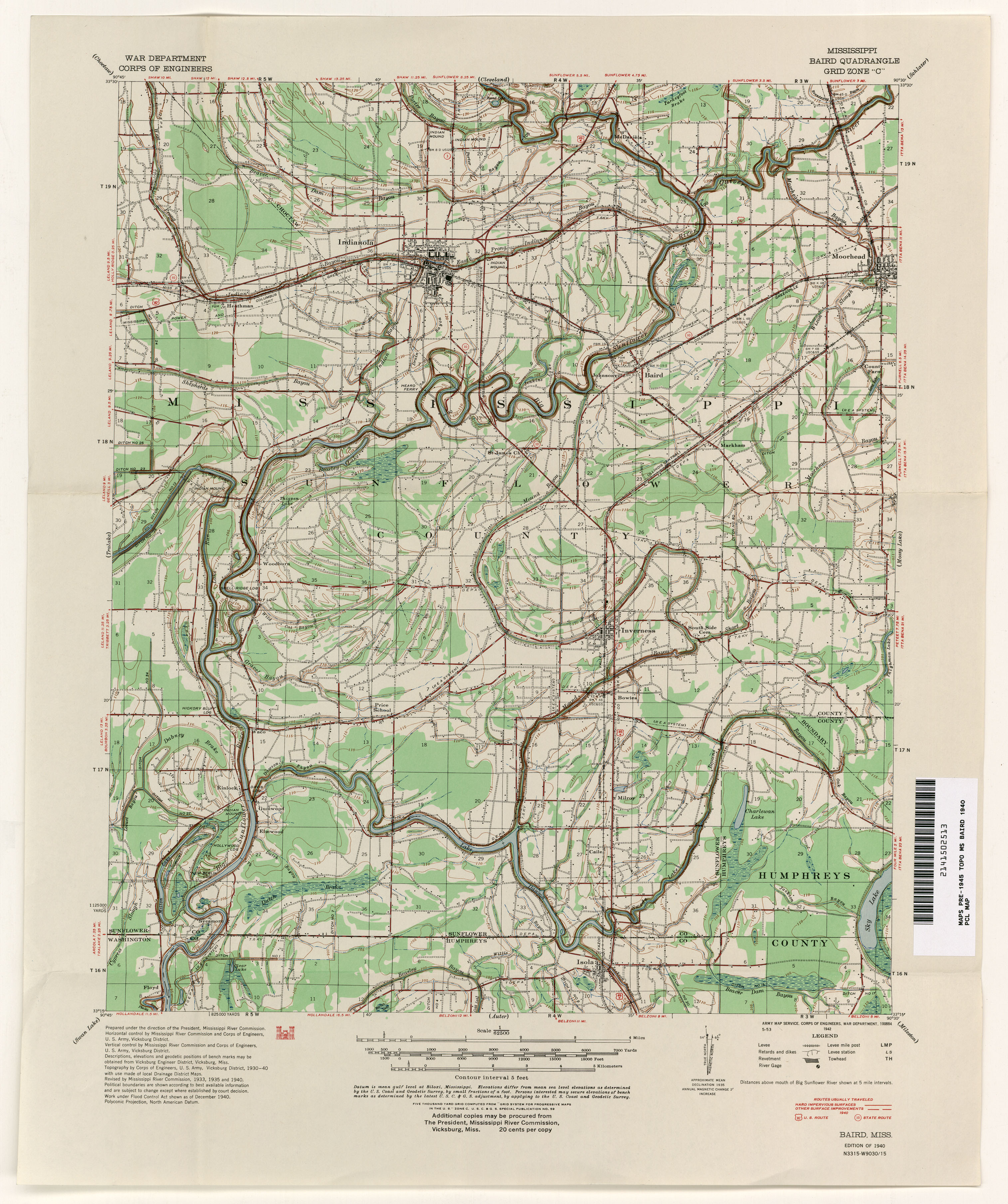 Greenwood Mississippi City Map
