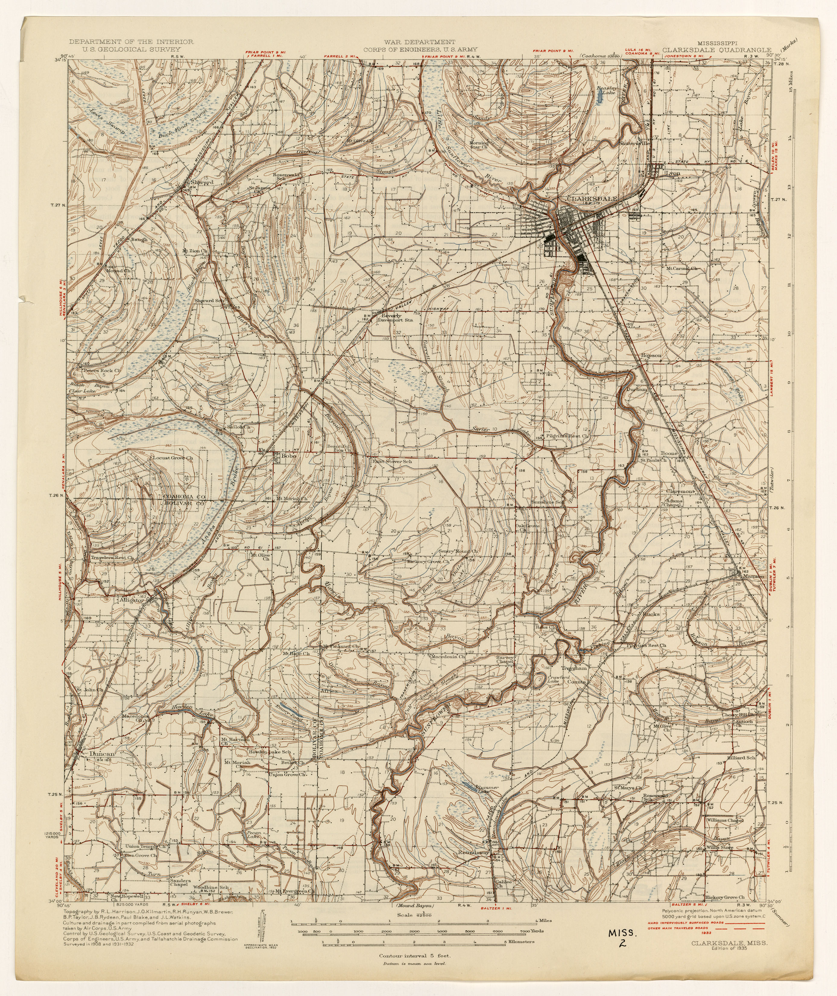 Mississippi Topographic Maps PerryCastañeda Map Collection UT - Ms map