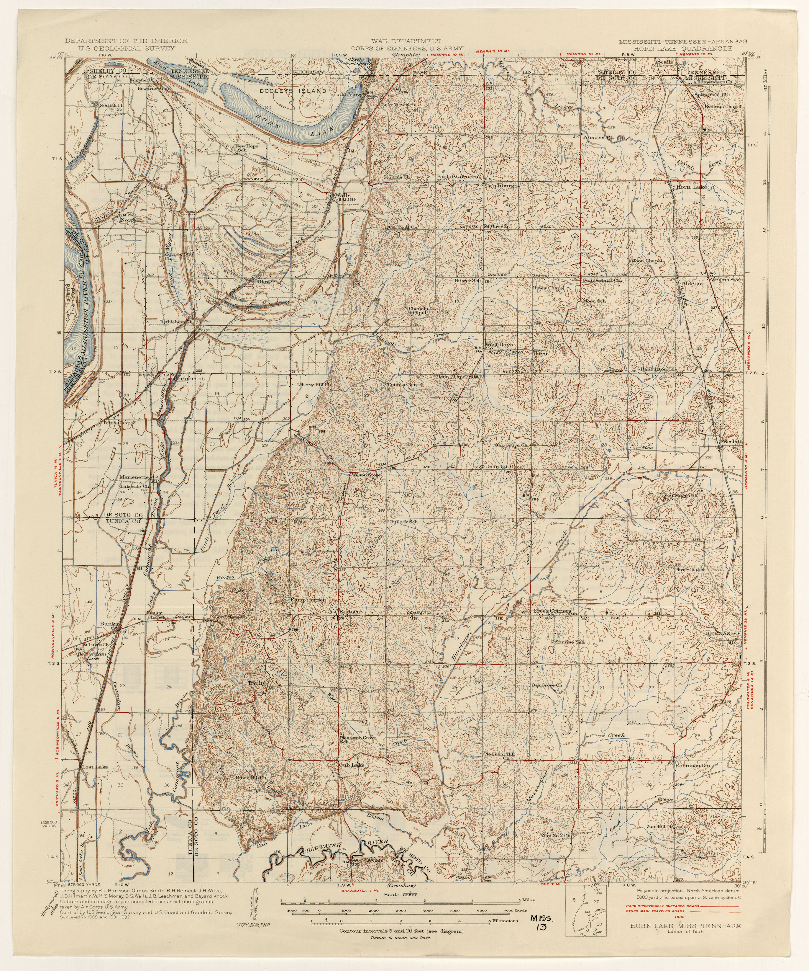Old Hickory Lake Topographic Map.Tennesse Historical Topographic Maps Perry Castaneda Map