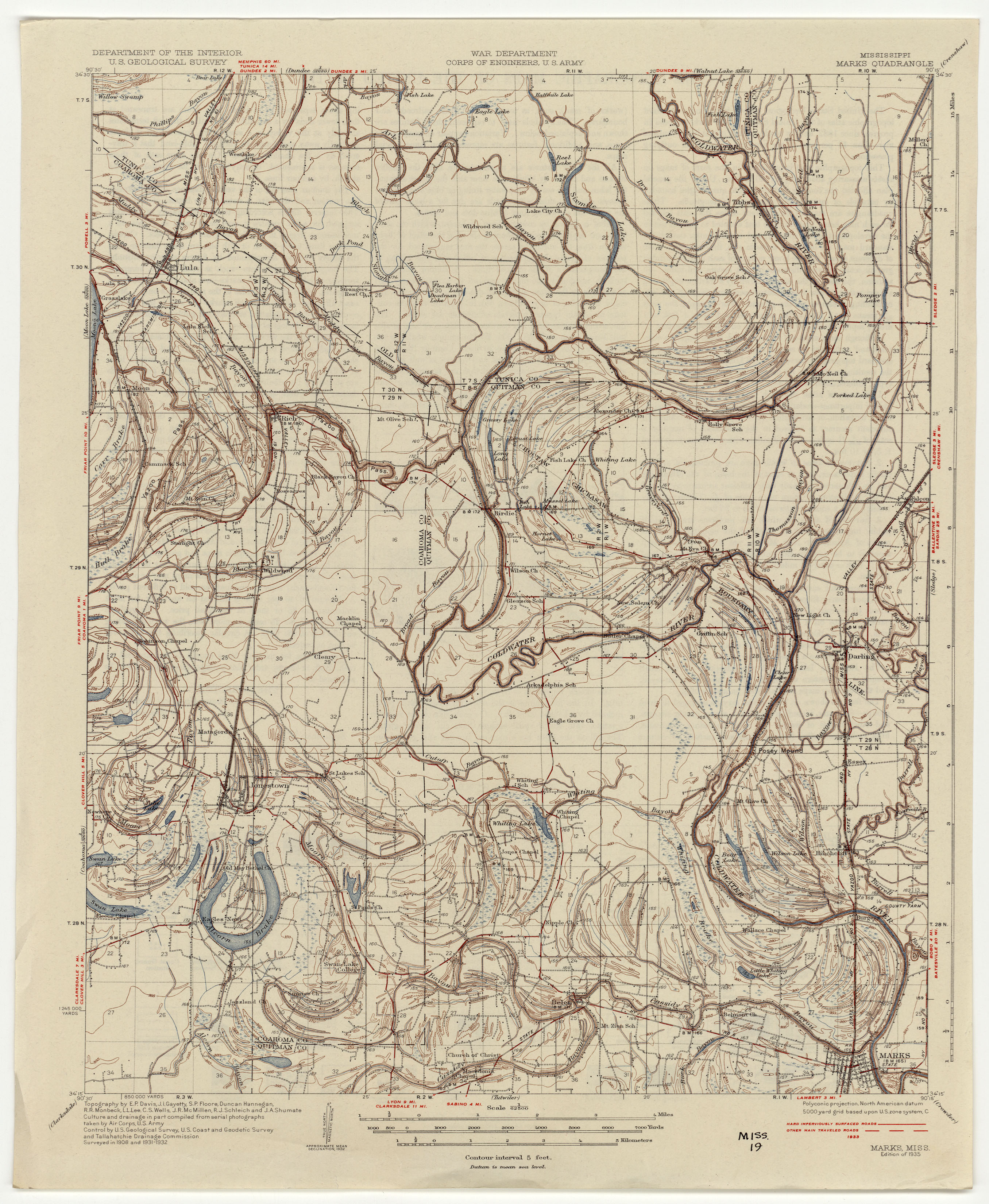 Mississippi Topographic Maps PerryCastañeda Map Collection UT - Map to mississippi