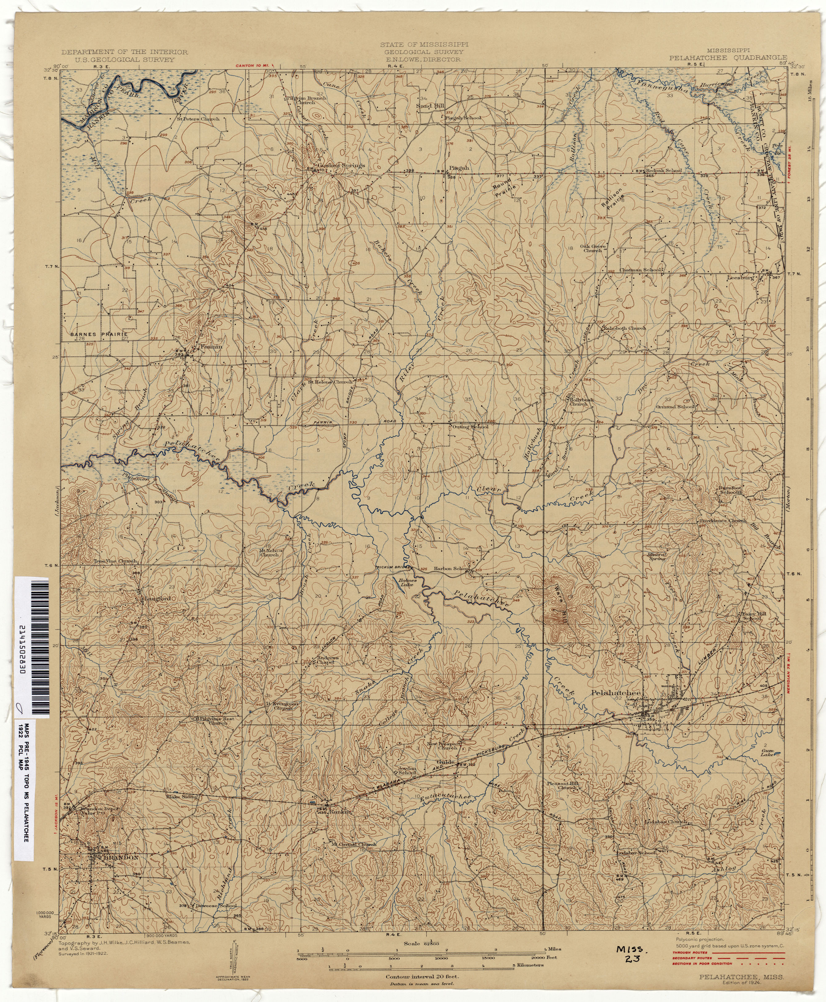 Mississippi Topographic Maps PerryCastañeda Map Collection UT - Map of ms