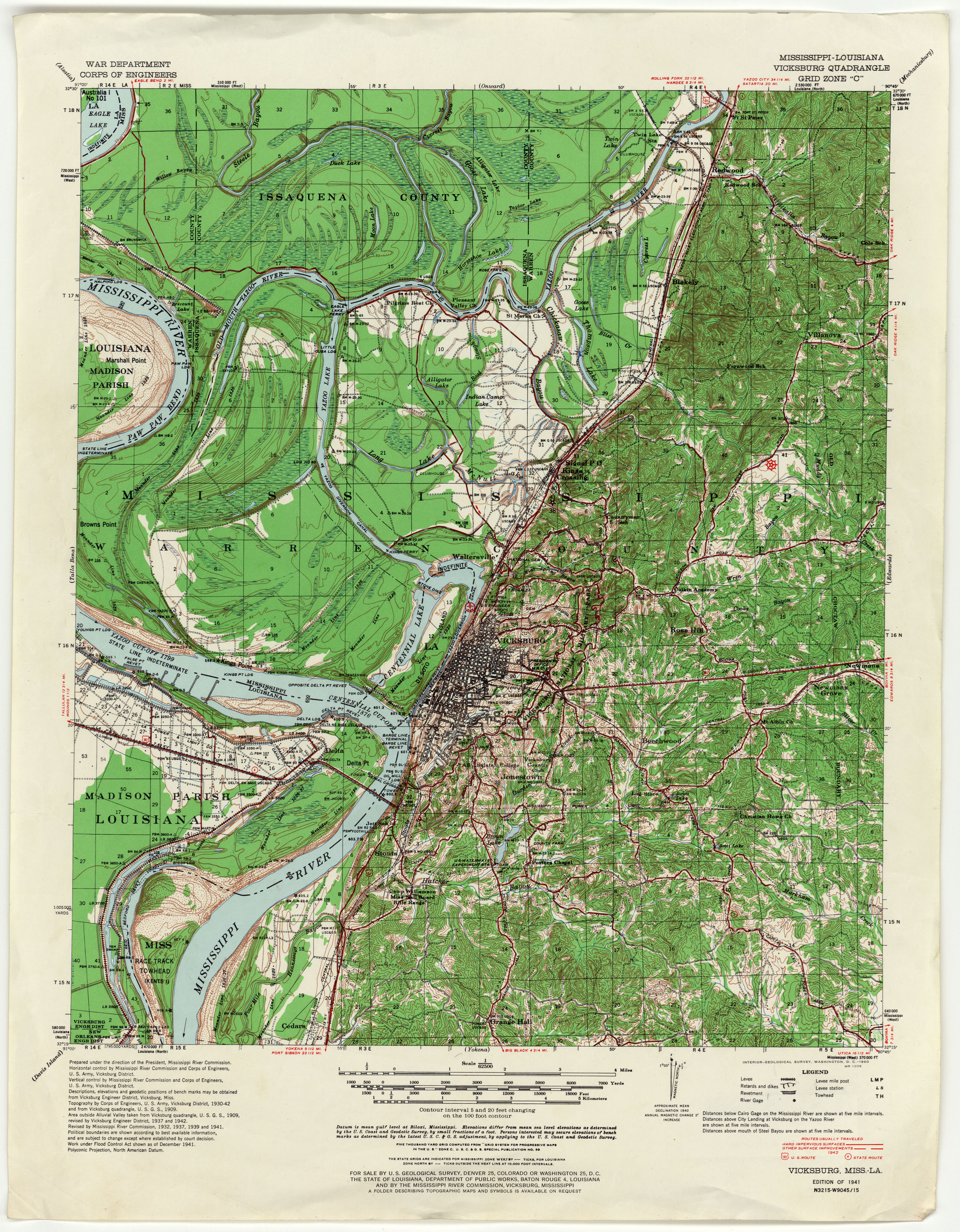 Mississippi Topographic Maps PerryCastañeda Map Collection UT - Map of south mississippi