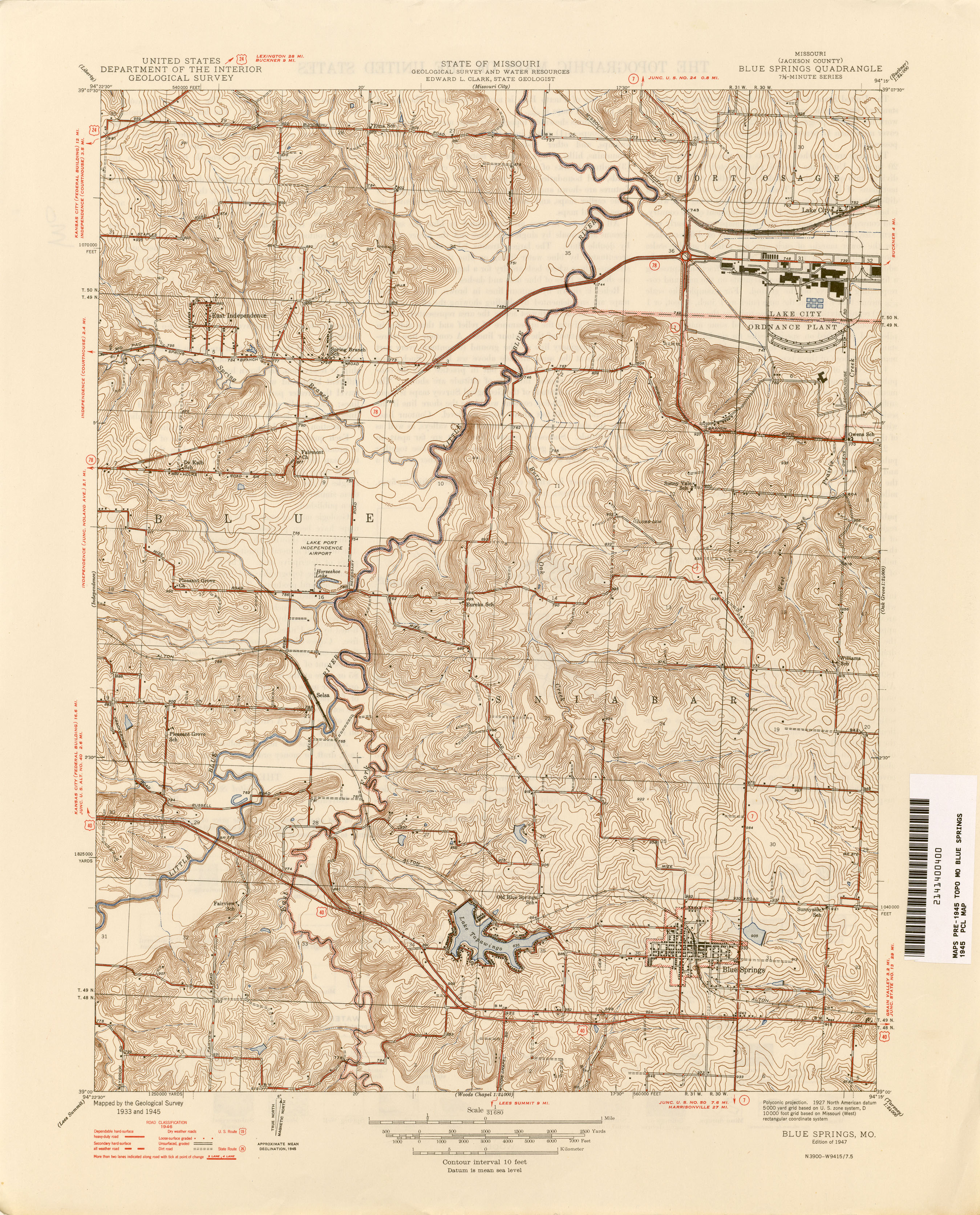 Missouri Historical Topographic Maps PerryCastaeda Map