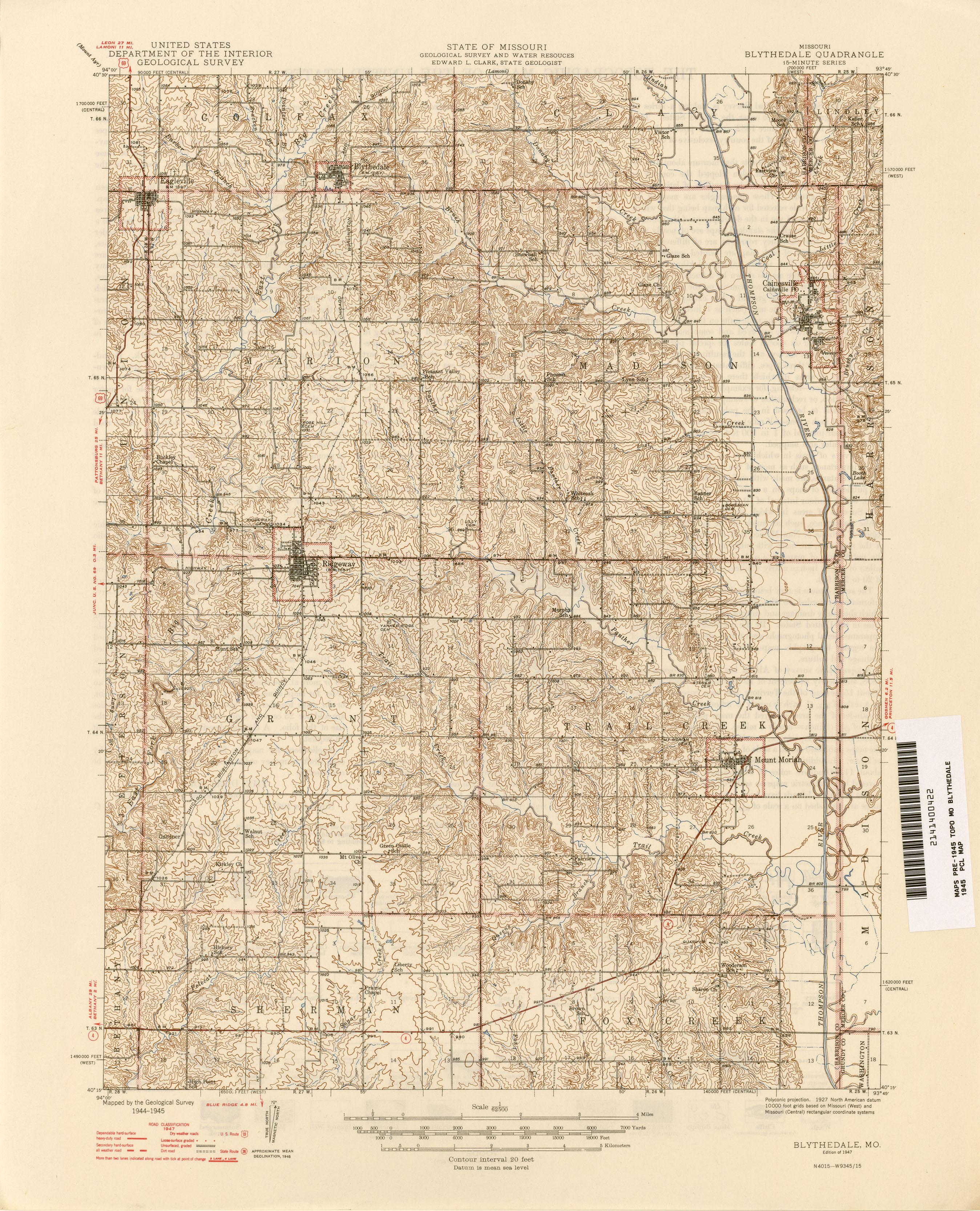 Missouri Historical Topographic Maps