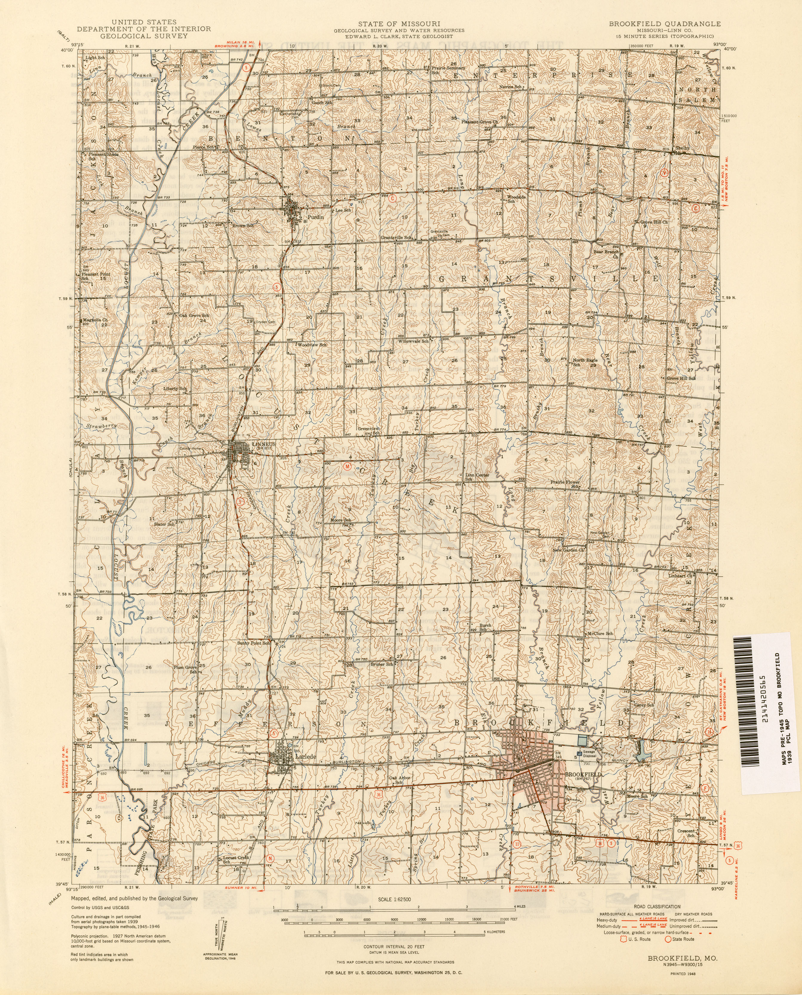 Missouri Historical Topographic Maps PerryCastañeda Map - Missouri road map