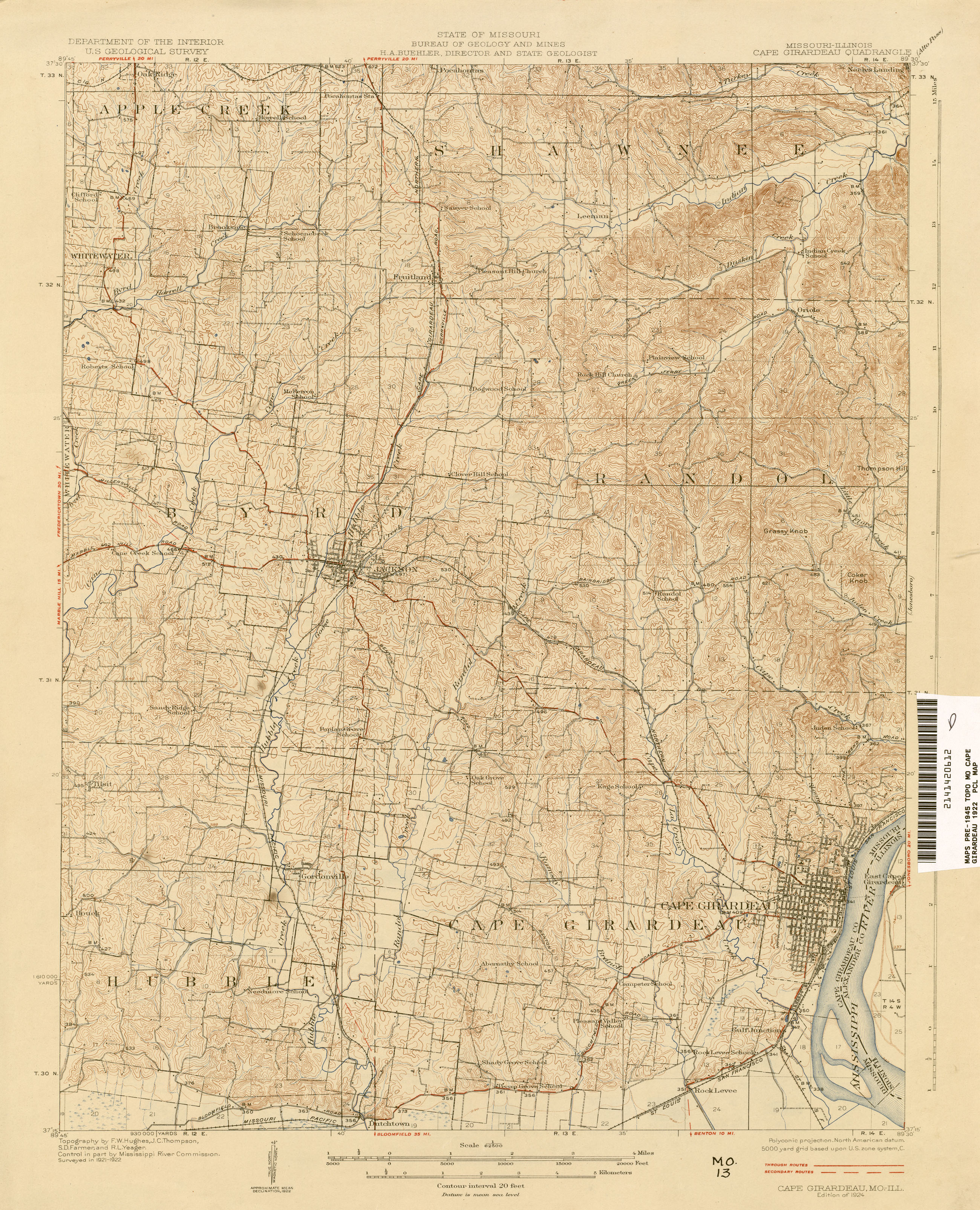 Missouri Historical Topographic Maps  PerryCastaeda Map