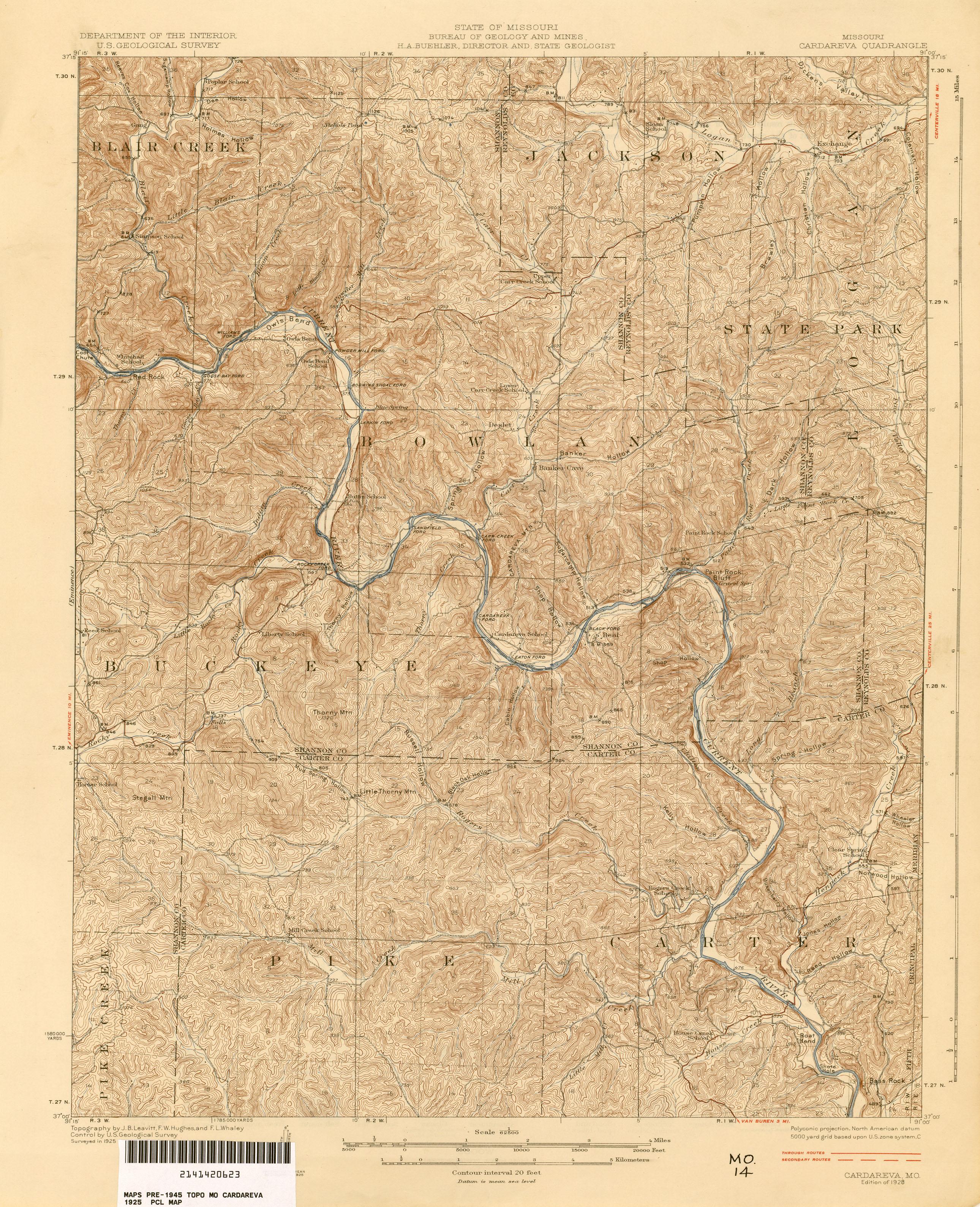 Missouri Historical Topographic Maps - Perry-Castañeda Map ...