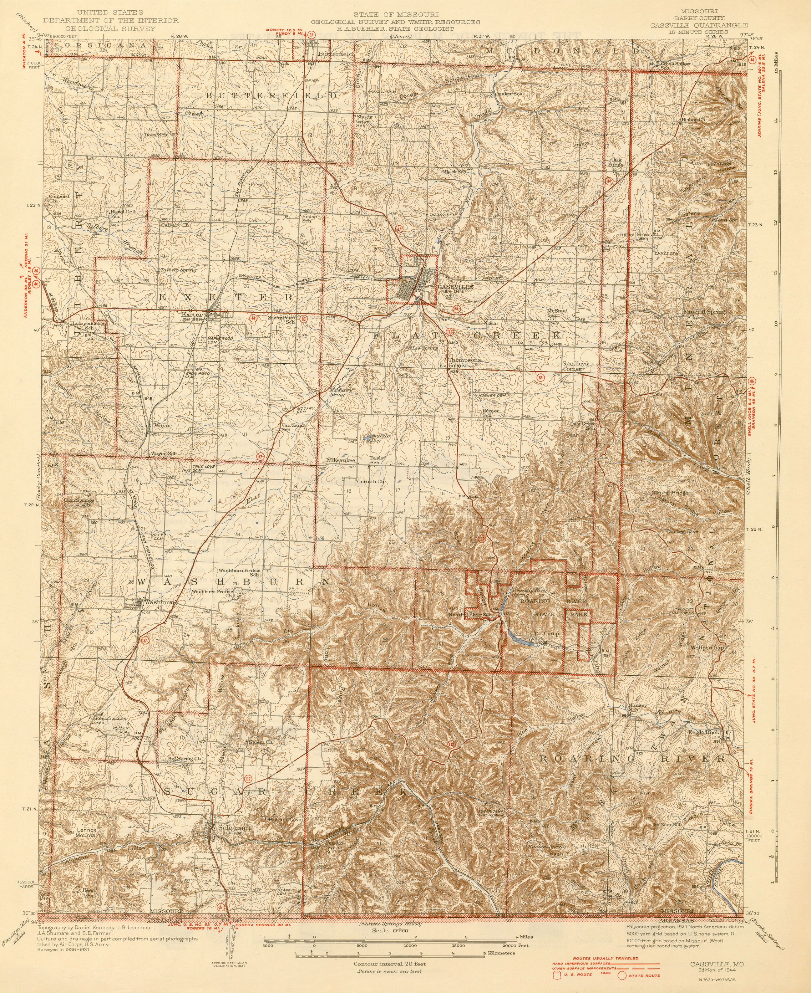 Missouri Historical Topographic Maps PerryCastañeda Map - Map of the state of missouri
