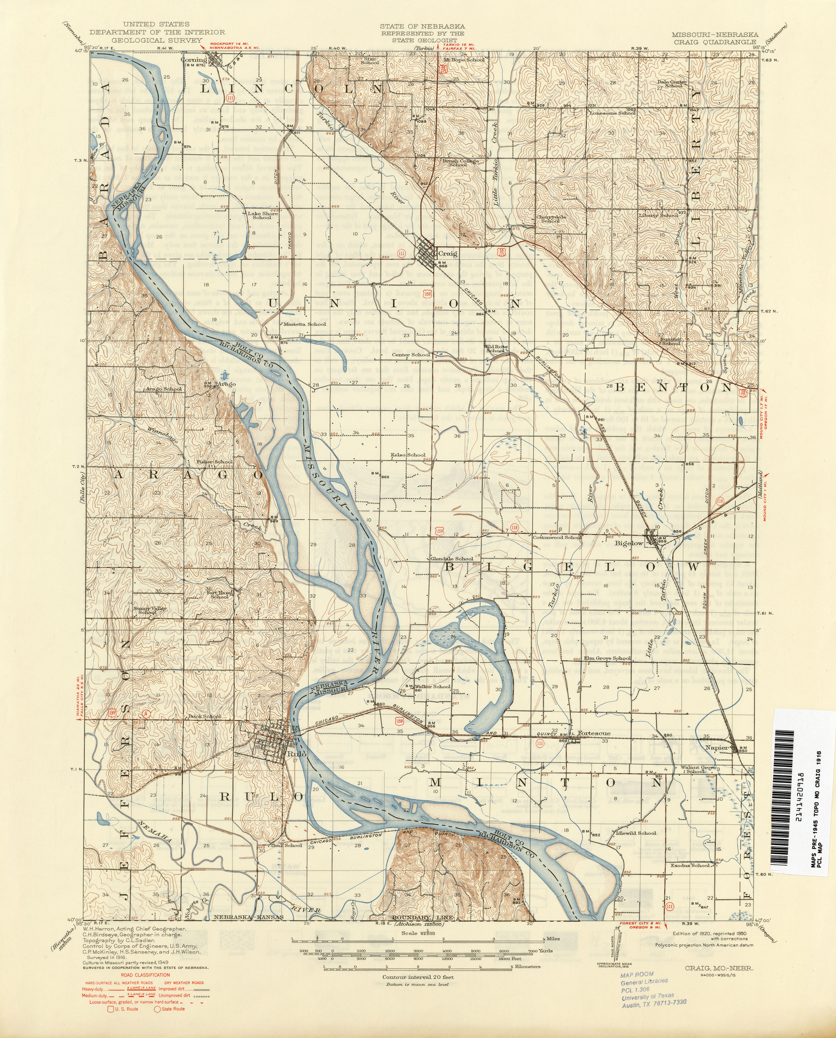 Missouri Historical Topographic Maps PerryCastañeda Map - 1896 map of us