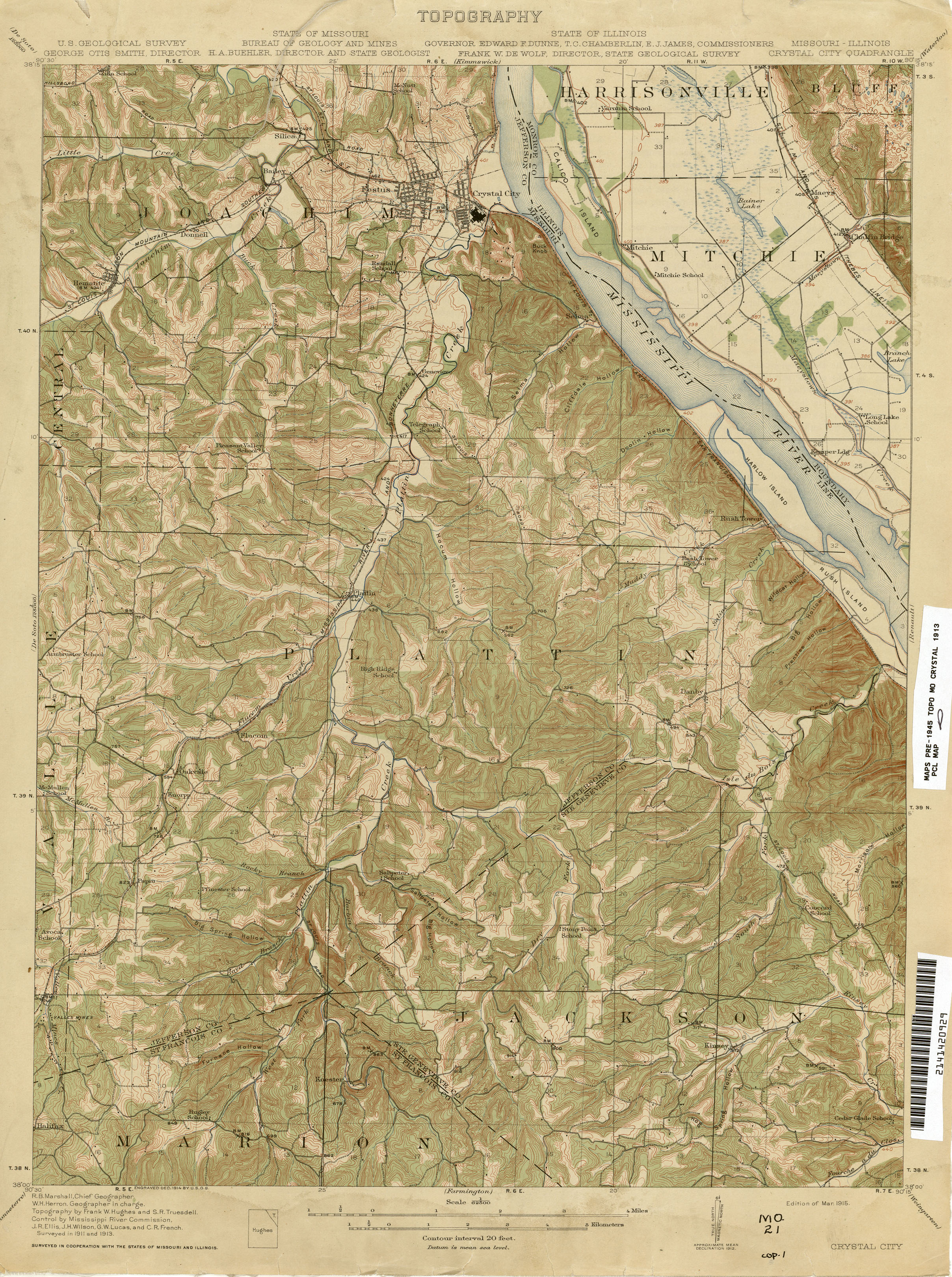 Missouri Historical Topographic Maps   Perry Castañeda Map