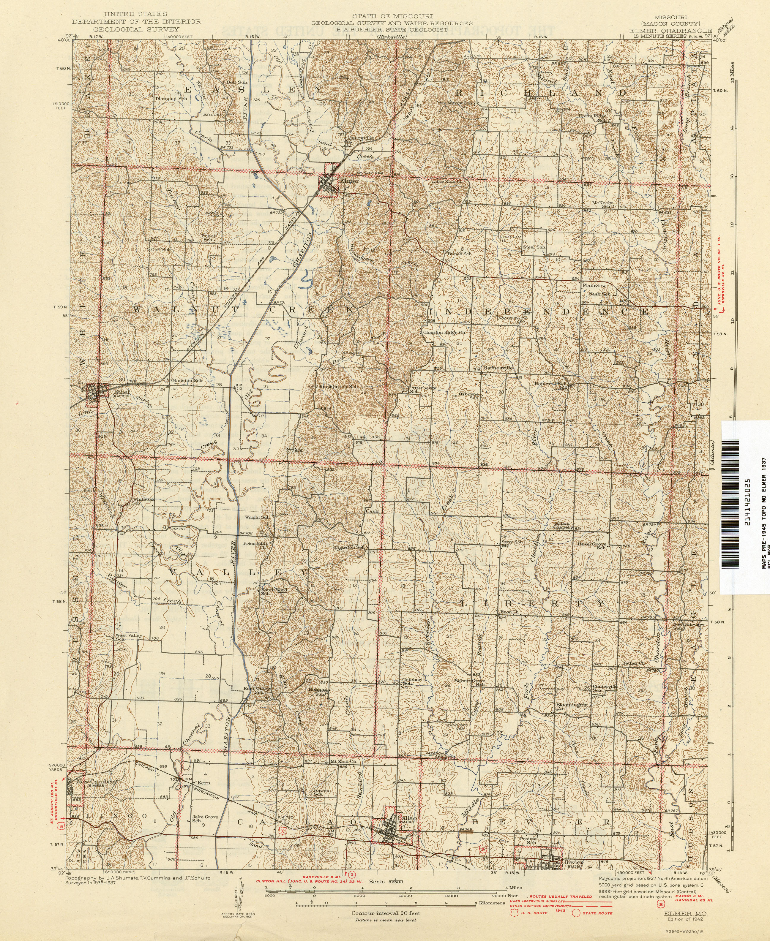 Missouri Historical Topographic Maps PerryCastañeda Map - County map of missouri