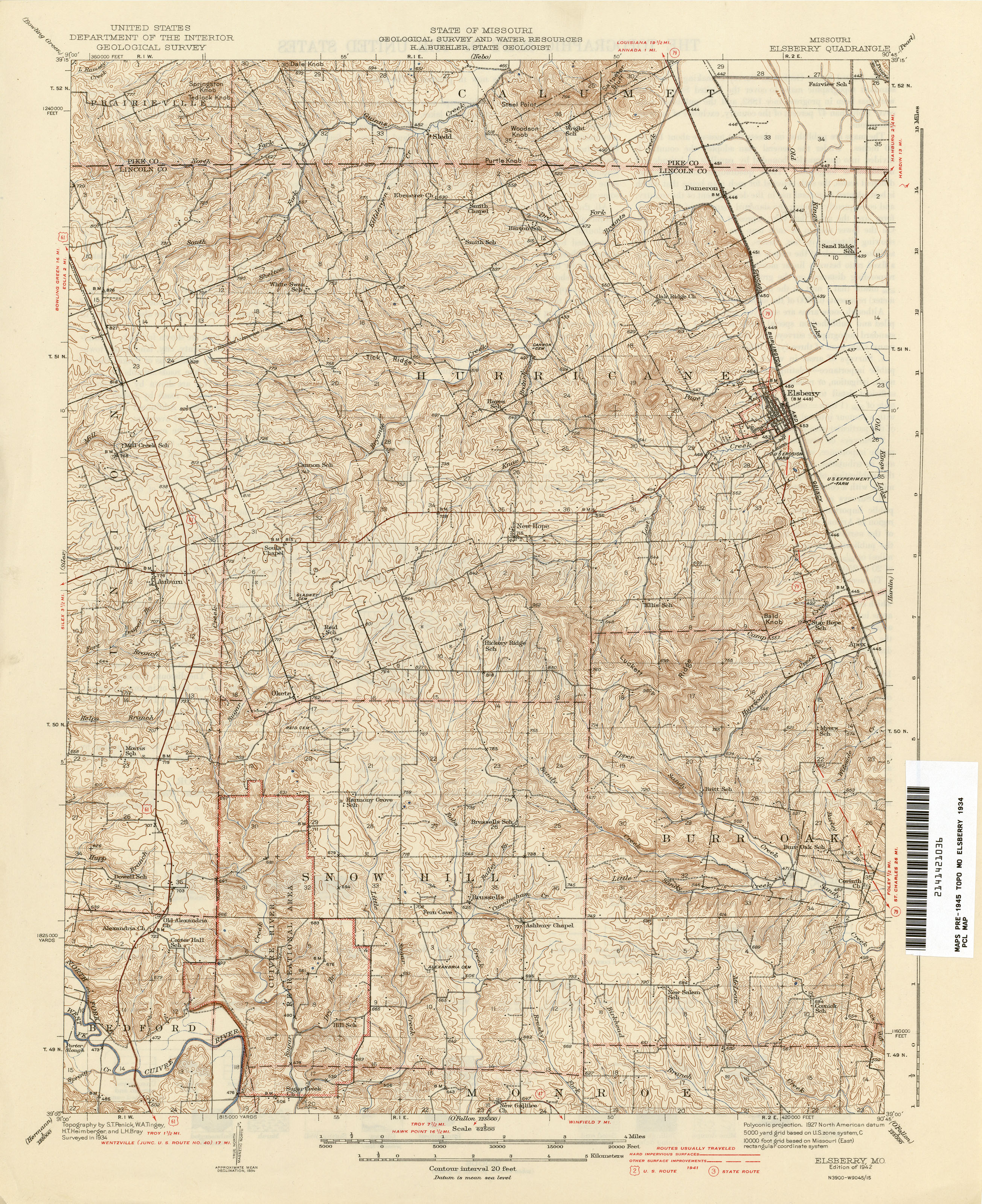 Missouri Historical Topographic Maps PerryCastañeda Map - Map of misouri