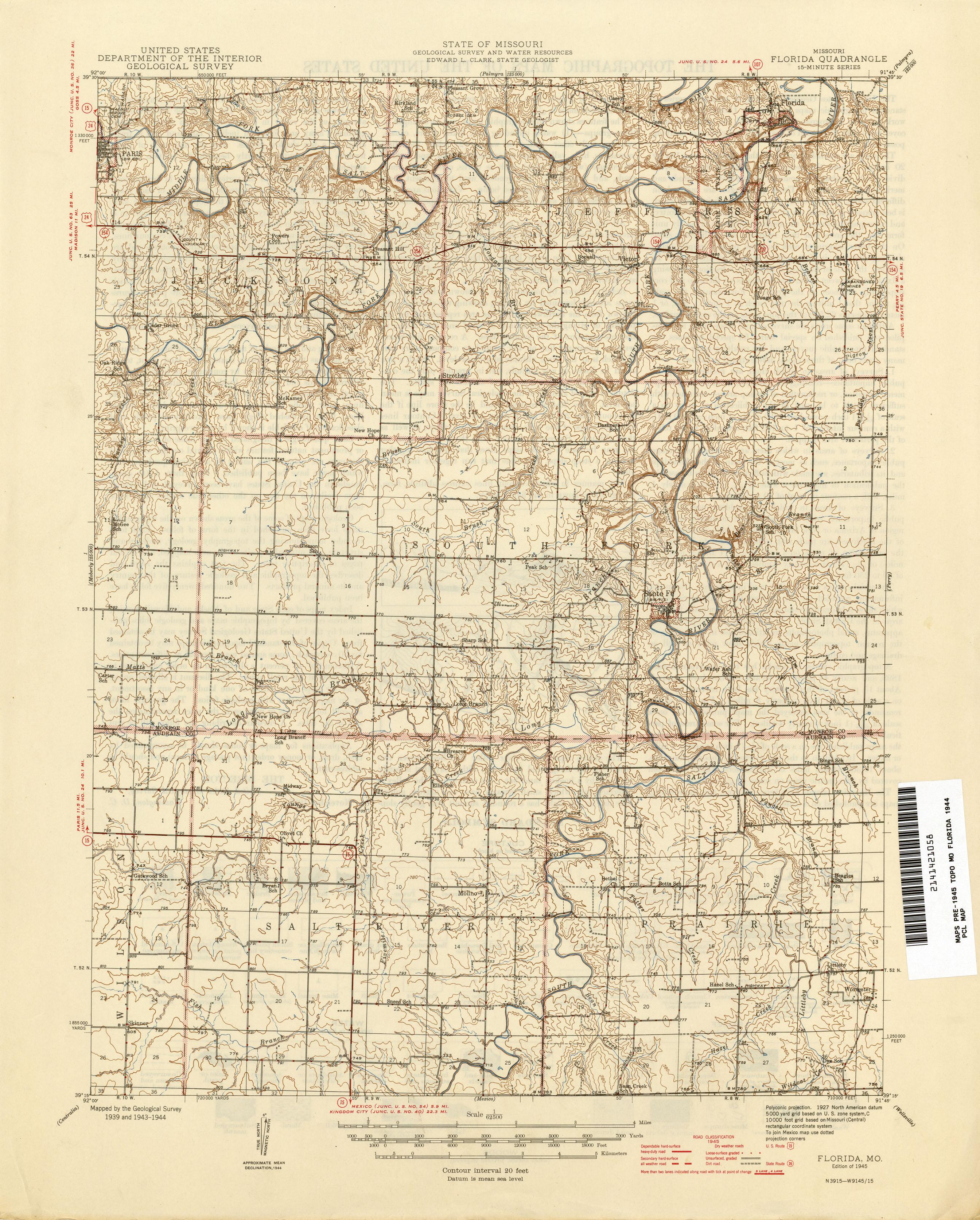 Missouri Historical Topographic Maps PerryCastañeda Map - Us geological survey maps historical