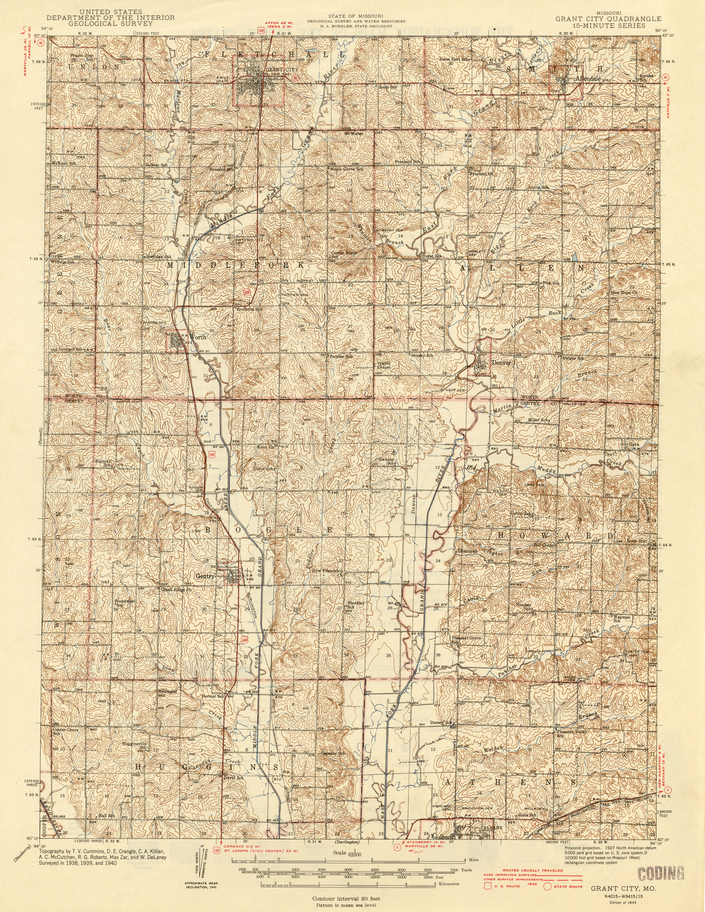 Missouri Historical Topographic Maps PerryCastañeda Map - Us map 1905