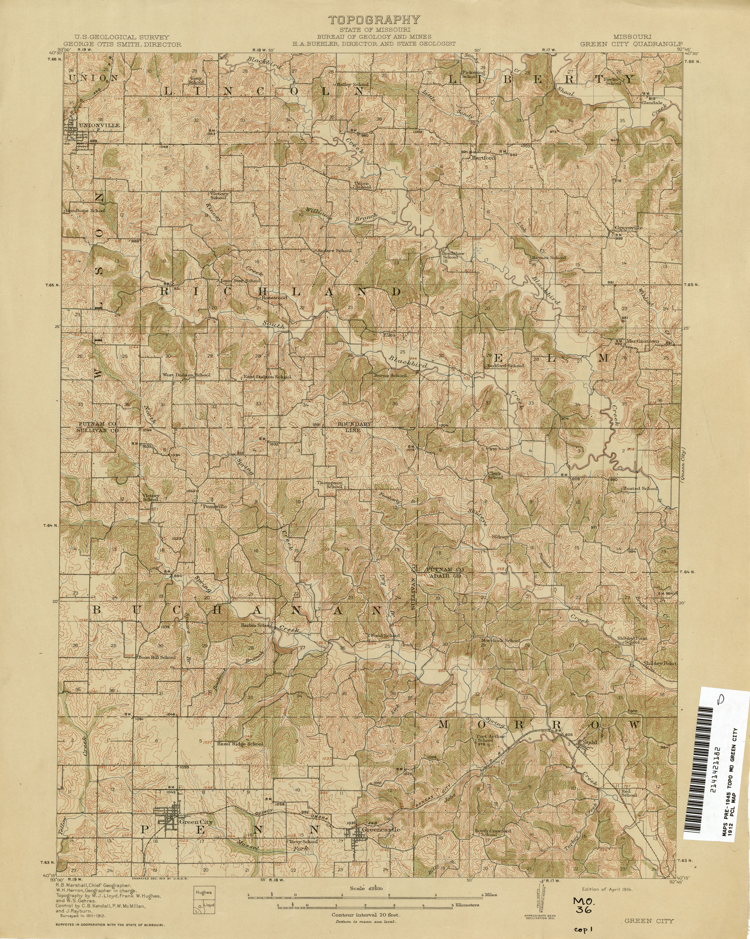 Missouri Historical Topographic Maps PerryCastañeda Map - Map of missouri cities