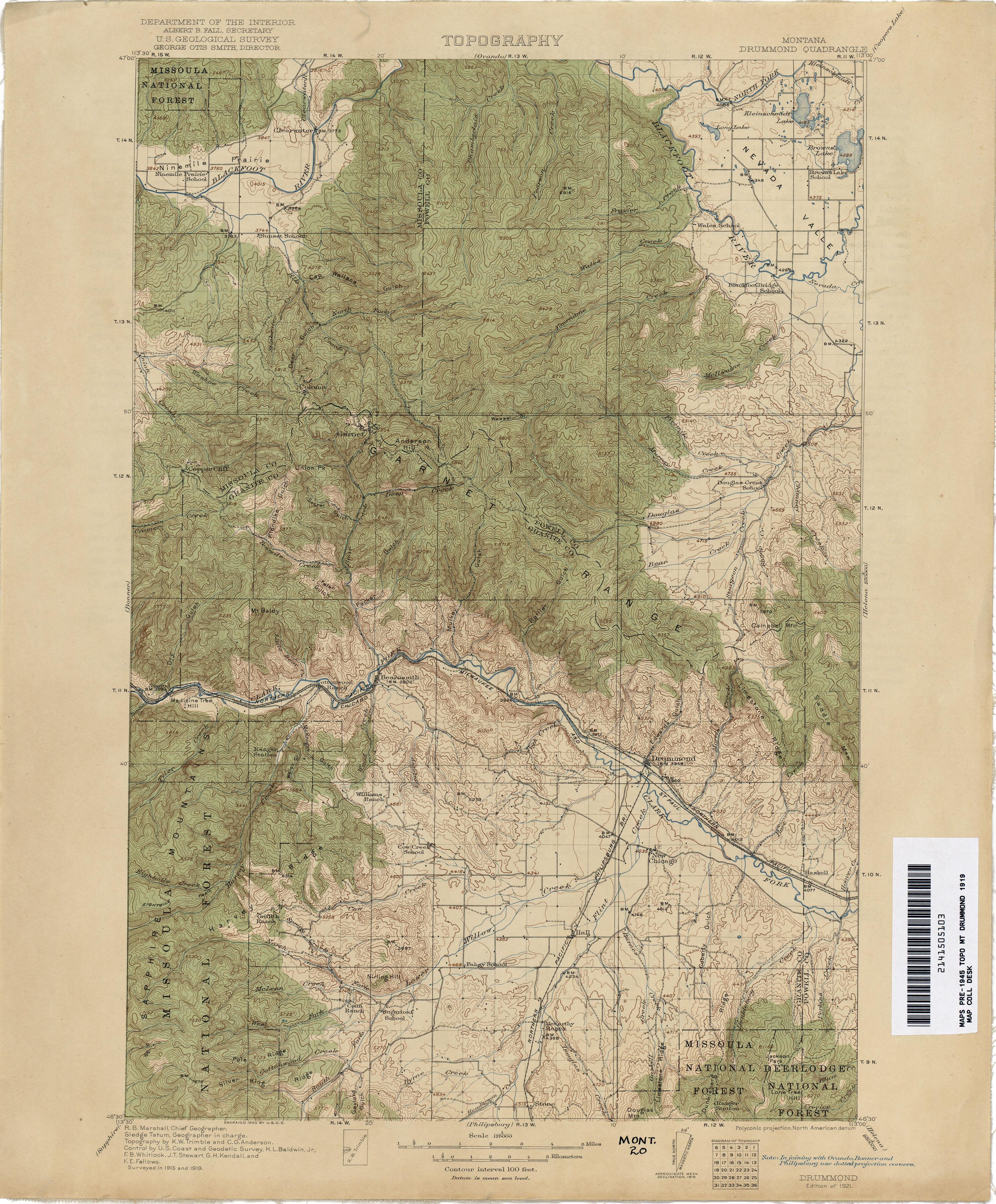 Montana Topographic Maps PerryCastañeda Map Collection UT - Montana topo map