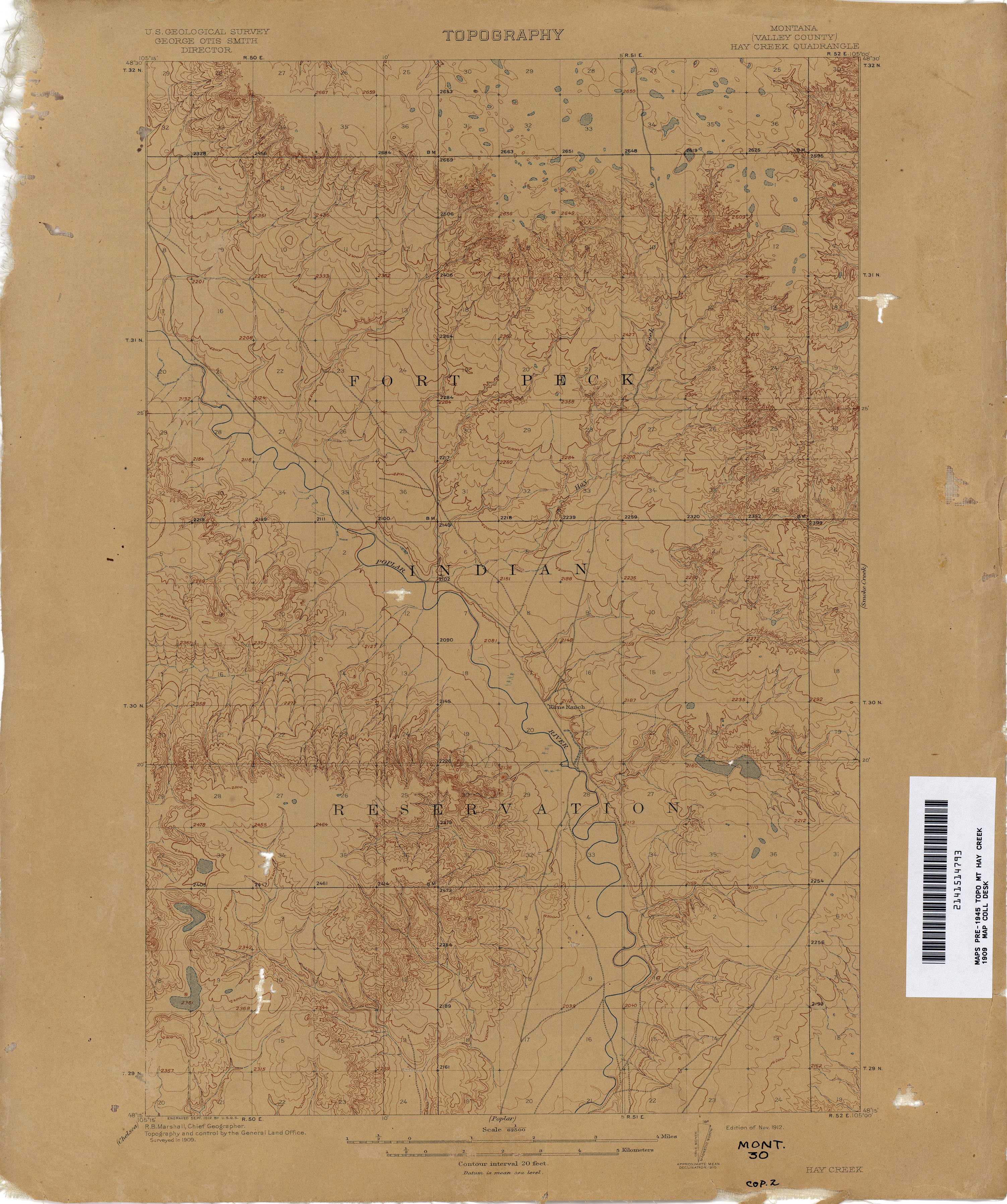 Montana Topographic Maps - Perry-Castañeda Map Collection