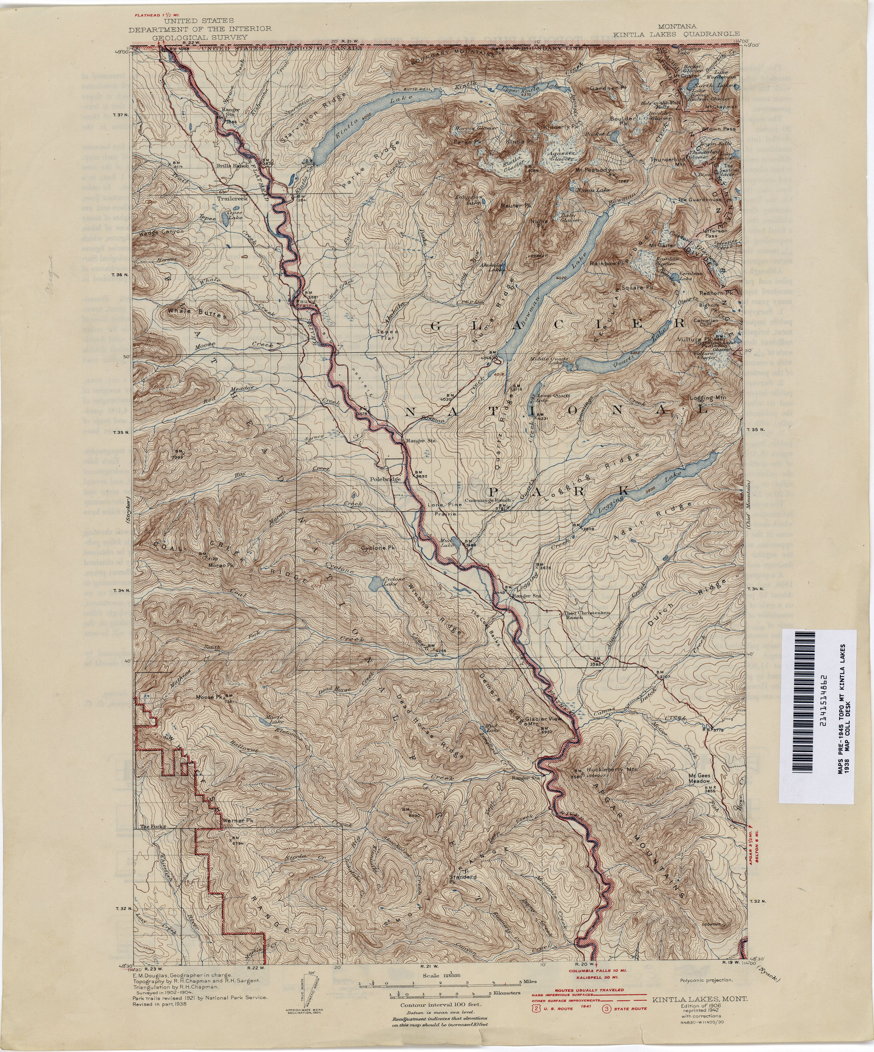 Montana Topographic Maps - Perry-Castañeda Map Collection - UT ...