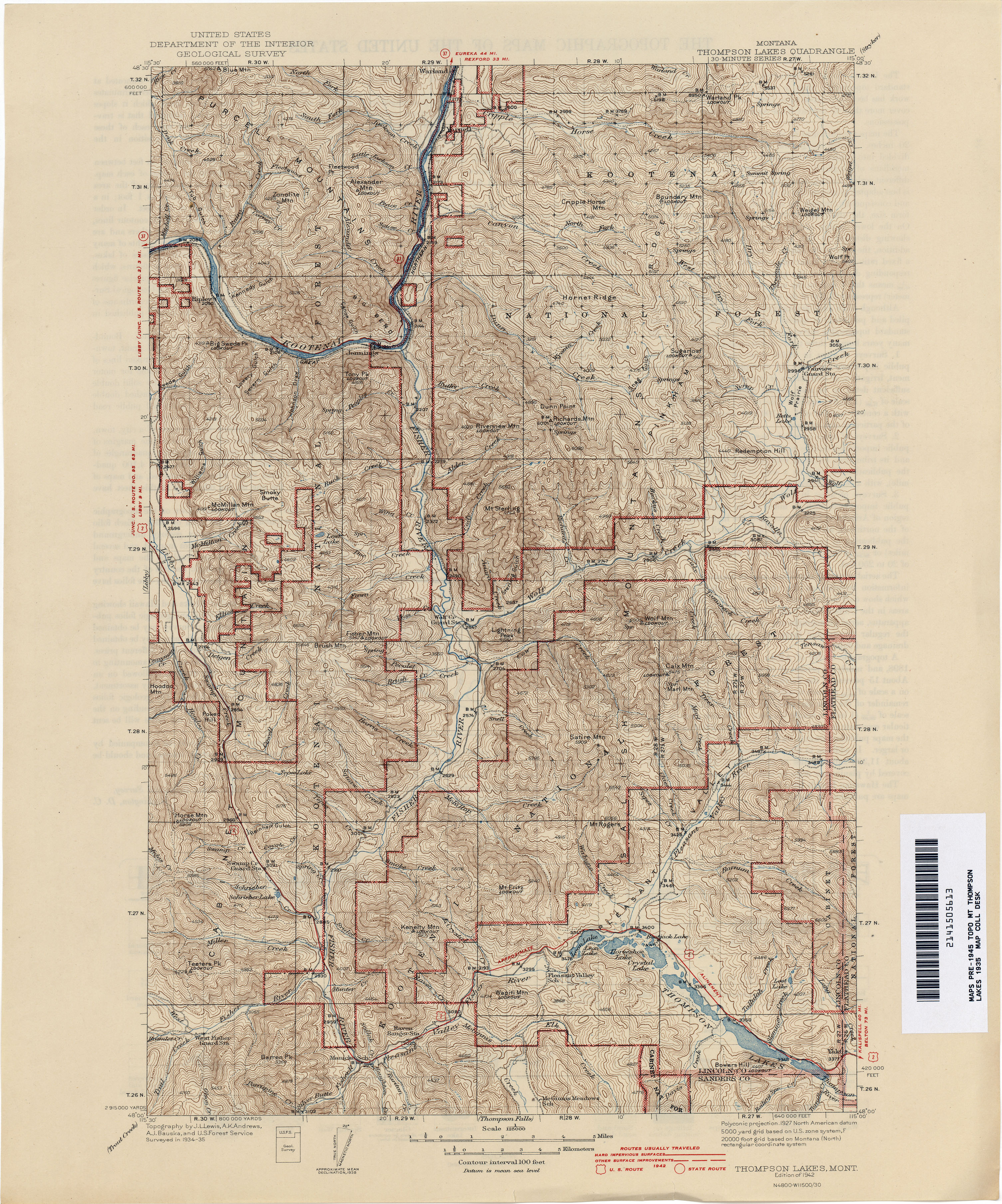 Montana Topographic Maps Perry Castaneda Map Collection