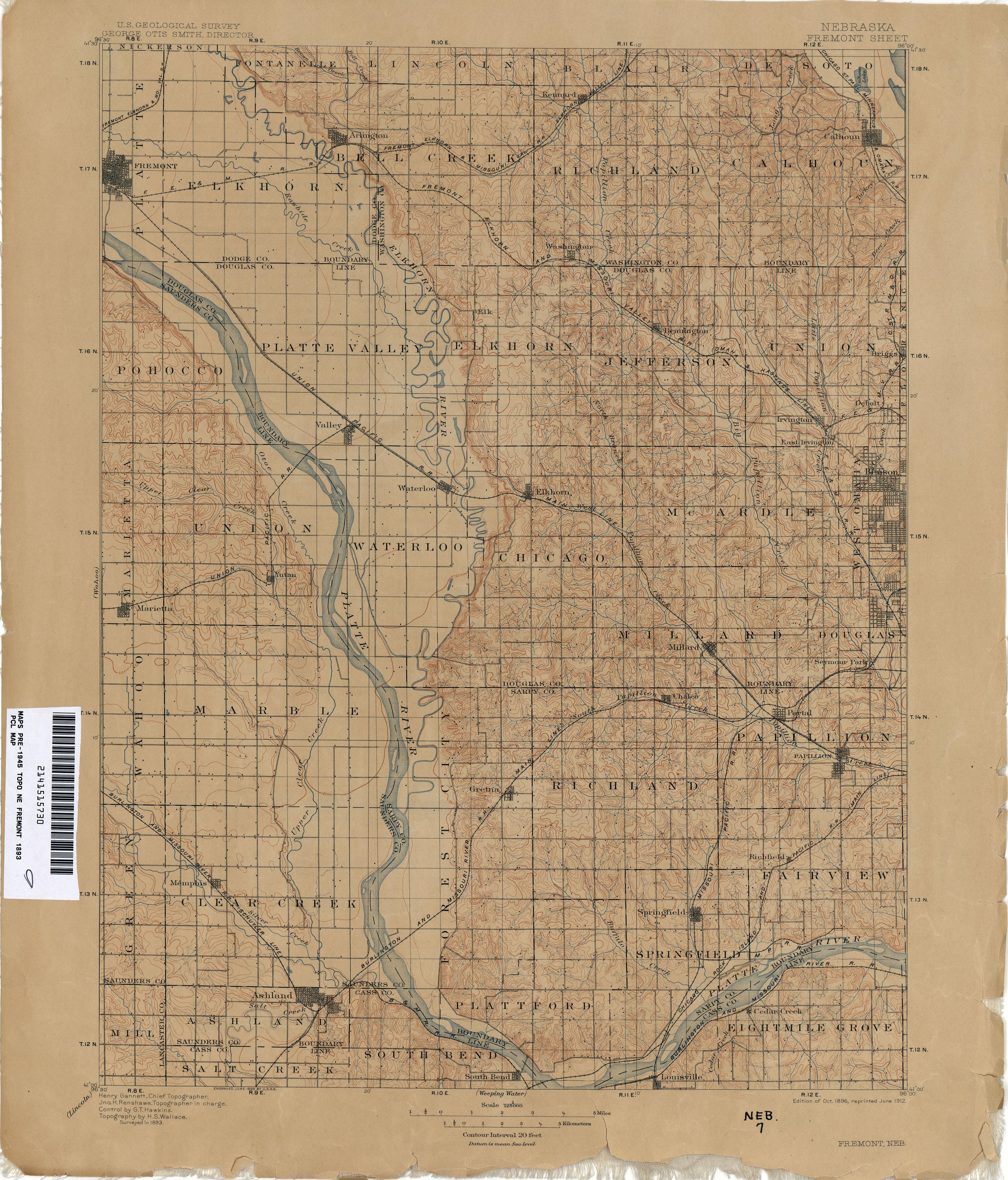 Nebraska Historical Topographic Maps Perry Castaneda Map