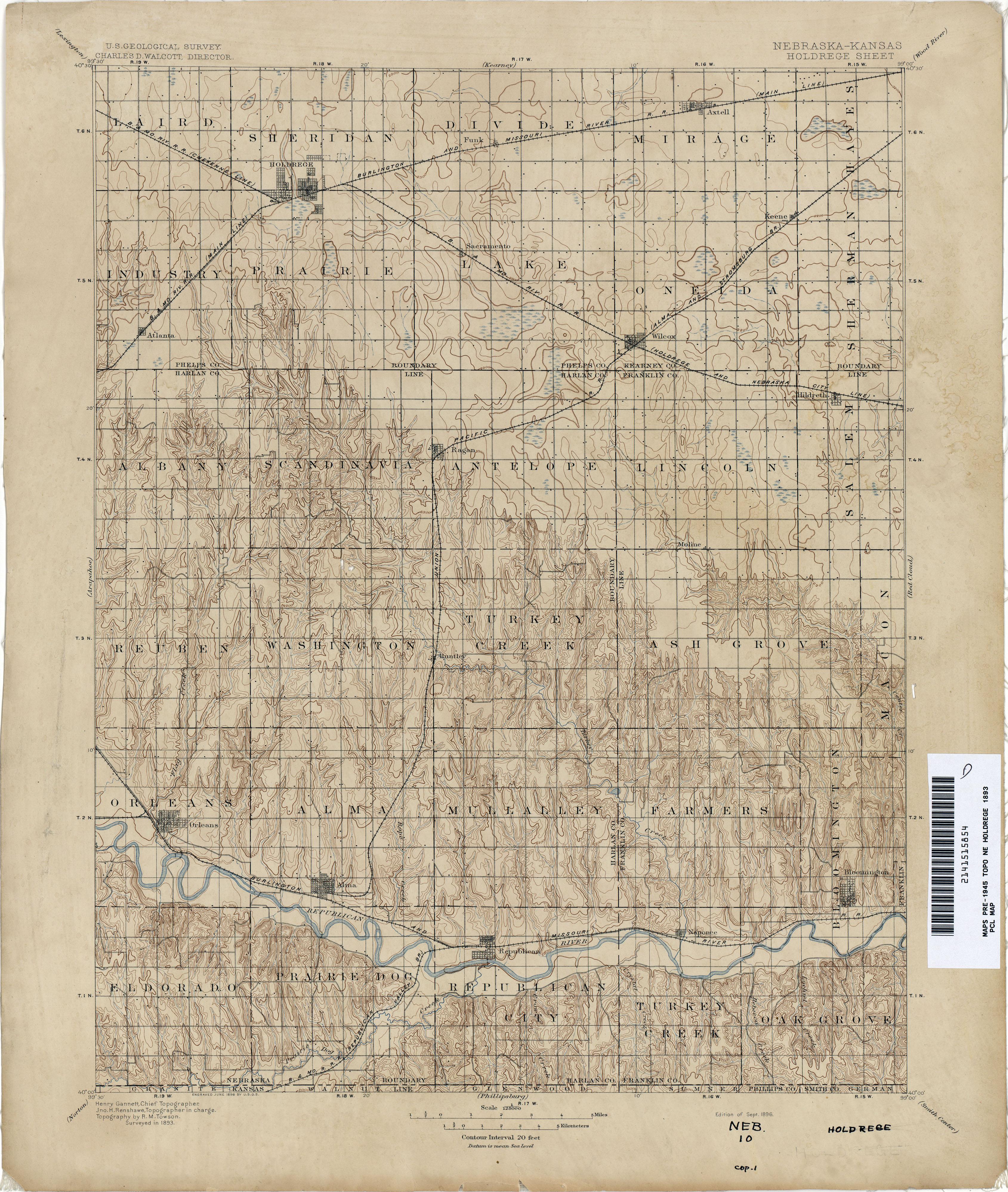Nebraska Historical Topographic Maps - Perry-Castañeda Map ...
