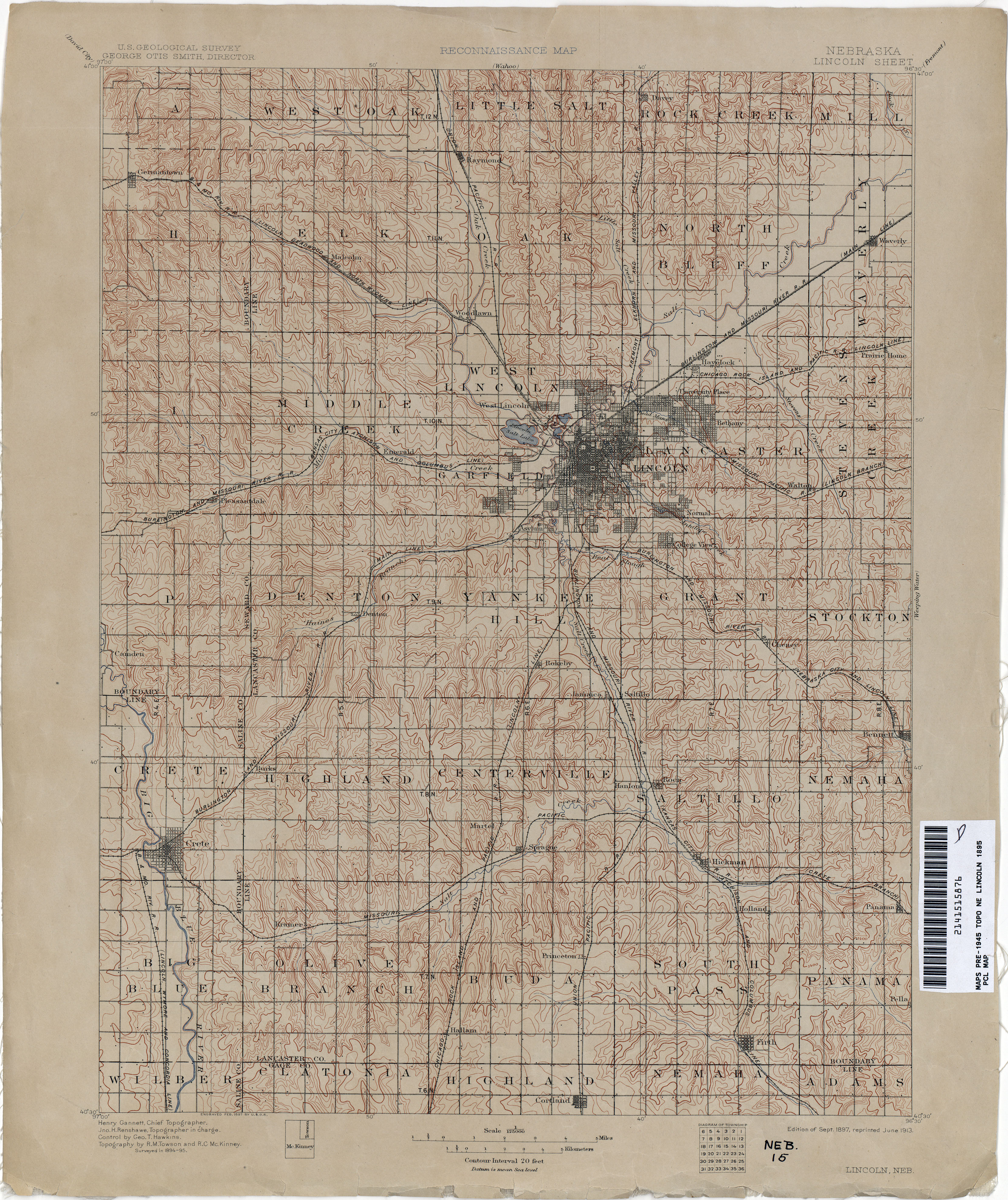 Nebraska Historical Topographic Maps PerryCastañeda Map - Nebr map