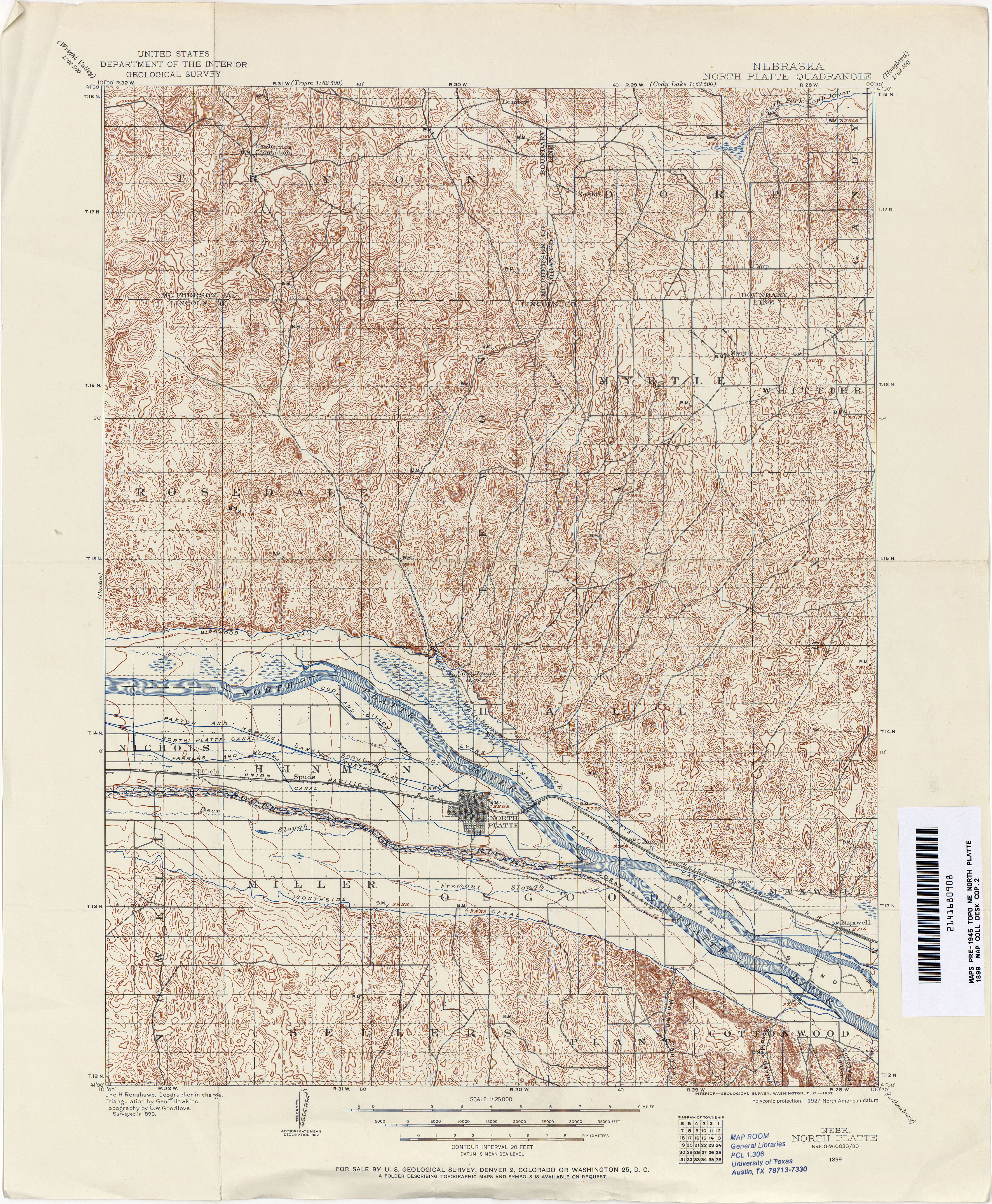 Nebraska Historical Topographic Maps PerryCastañeda Map - Show nebraska on us map